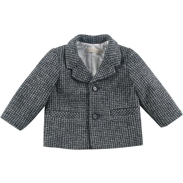 Пиджак для мальчика WojcikКостюмы и пиджаки<br>Характеристики товара:<br><br>• цвет: серый<br>• состав ткани: 40% акрил, 40% шерсть, 20% полиэстер<br>• сезон: демисезон<br>• особенности модели: нарядная<br>• длинные рукава<br>• застежка: пуговицы<br>• страна бренда: Польша<br>• страна изготовитель: Польша<br><br>Стильный пиджак для мальчика от бренда Войчик легко надевается благодаря пуговицам. Этот пиджак для детей сделан из качественного материала. Популярный бренд Wojcik - это польская детская одежда отличного качества по доступной цене. <br><br>Пиджак для мальчика Wojcik (Войчик) можно купить в нашем интернет-магазине.<br><br>Ширина мм: 356<br>Глубина мм: 10<br>Высота мм: 245<br>Вес г: 519<br>Цвет: серый<br>Возраст от месяцев: 3<br>Возраст до месяцев: 6<br>Пол: Мужской<br>Возраст: Детский<br>Размер: 68,98,92,86,80,74<br>SKU: 5590118