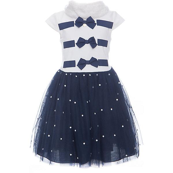Платье для девочки WojcikОдежда<br>Характеристики товара:<br><br>• цвет: синий<br>• комплектация: платье, воротник<br>• состав ткани: 79% вискоза, 11% полиэстер, 10% хлопок<br>• сезон: лето<br>• особенности модели: нарядная<br>• застежка: молния<br>• короткие рукава<br>• страна бренда: Польша<br>• страна изготовитель: Польша<br><br>Это нарядное детское платье дополнено эффектным воротником. Такое платье для девочки Войчик легко надевается. Популярный бренд Wojcik - это польская детская одежда отличного качества по доступной цене. <br><br>Платье для девочки Wojcik (Войчик) можно купить в нашем интернет-магазине.<br><br>Ширина мм: 236<br>Глубина мм: 16<br>Высота мм: 184<br>Вес г: 177<br>Цвет: темно-синий<br>Возраст от месяцев: 18<br>Возраст до месяцев: 24<br>Пол: Женский<br>Возраст: Детский<br>Размер: 92,134,98,104,110,116,122,128<br>SKU: 5590219