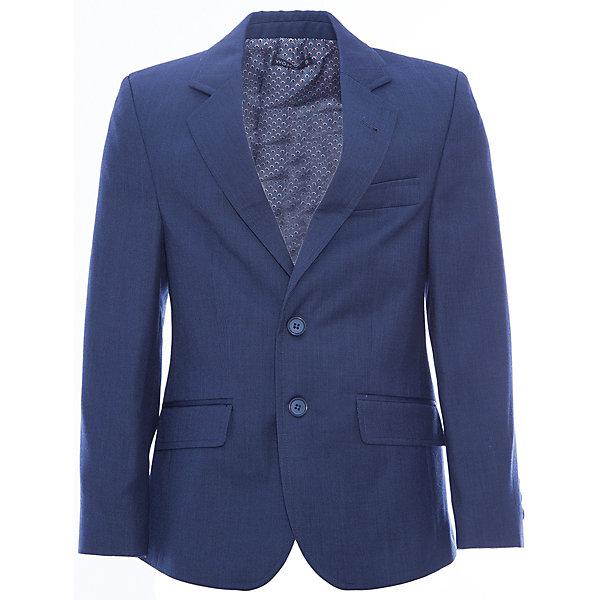 Пиджак для мальчика WojcikКостюмы и пиджаки<br>Характеристики товара:<br><br>• цвет: синий<br>• состав ткани: 85% полиэстер, 15% вискоза<br>• сезон: демисезон<br>• особенности модели: школьная, нарядная<br>• длинные рукава<br>• застежка: пуговицы<br>• страна бренда: Польша<br>• страна изготовитель: Польша<br><br>Модный пиджак для мальчика от бренда Войчик легко надевается благодаря пуговицам. Этот пиджак для детей сделан из качественного материала. Популярный бренд Wojcik - это польская детская одежда отличного качества по доступной цене. <br><br>Пиджак для мальчика Wojcik (Войчик) можно купить в нашем интернет-магазине.<br><br>Ширина мм: 356<br>Глубина мм: 10<br>Высота мм: 245<br>Вес г: 519<br>Цвет: синий<br>Возраст от месяцев: 120<br>Возраст до месяцев: 132<br>Пол: Мужской<br>Возраст: Детский<br>Размер: 146,140,134,128,152<br>SKU: 5590274