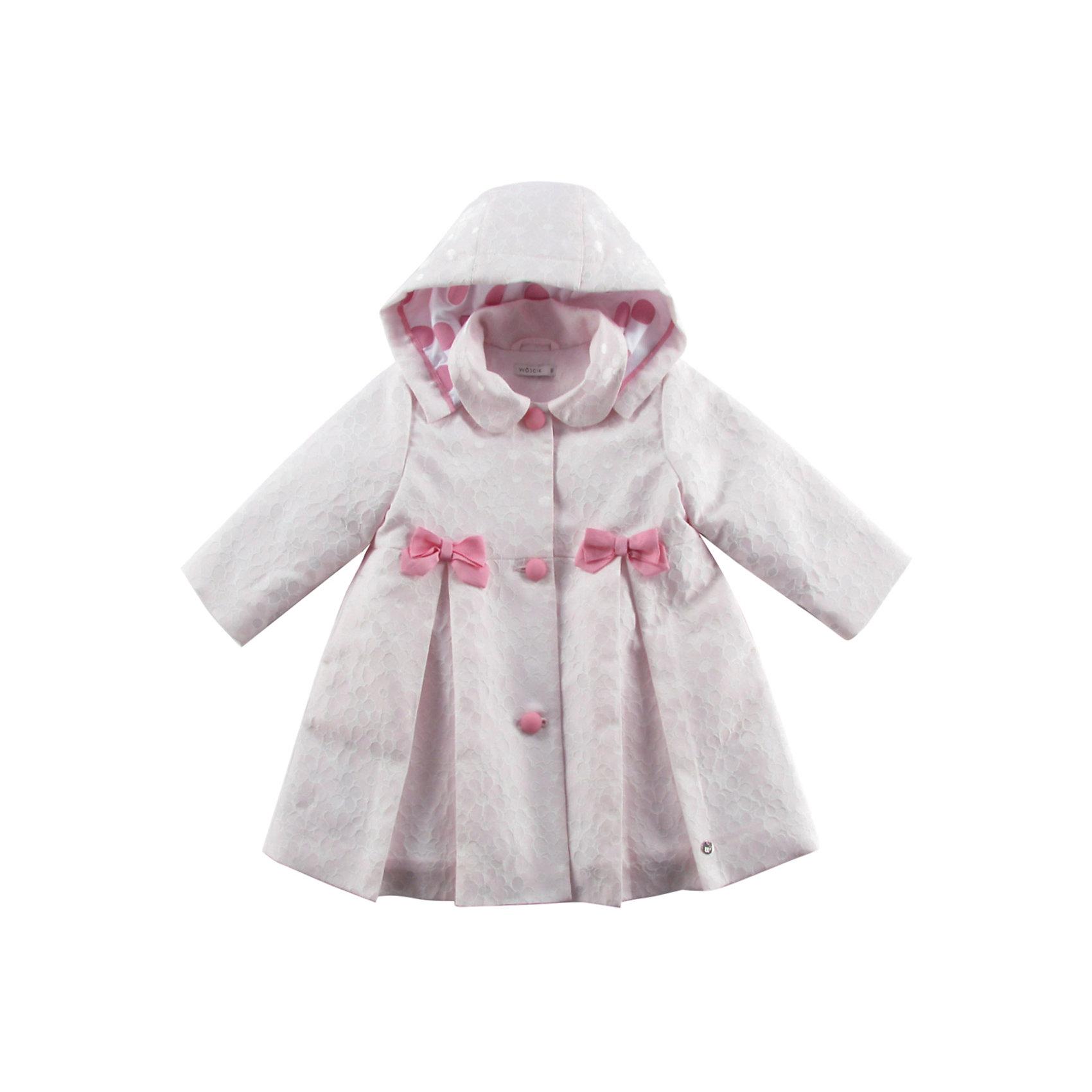Пальто для девочки WojcikВерхняя одежда<br>Характеристики товара:<br><br>• цвет: розовый<br>• состав ткани: полиэстер 68%, вискоза 31%, эластан 1%<br>• длинные рукава<br>• капюшон<br>• температурный режим: от +5 до +20<br>• застежка: пуговицы<br>• сезон: демисезон<br>• страна бренда: Польша<br>• страна изготовитель: Польша<br><br>Польская одежда для детей от бренда Войчик - это качественные и стильные вещи. Розовое пальто для девочки Войчик отличается модным кроем и актуальным в этом сезоне цветом. <br><br>Эта модель одежды для детей сделана из качественного материала, подкладка - из дышащего натурального хлопка в составе. Пальто дополнено удобным капюшоном.<br><br>Пальто для девочки Wojcik (Войчик) можно купить в нашем интернет-магазине.<br><br>Ширина мм: 356<br>Глубина мм: 10<br>Высота мм: 245<br>Вес г: 519<br>Цвет: белый<br>Возраст от месяцев: 24<br>Возраст до месяцев: 36<br>Пол: Женский<br>Возраст: Детский<br>Размер: 98,92<br>SKU: 5590522