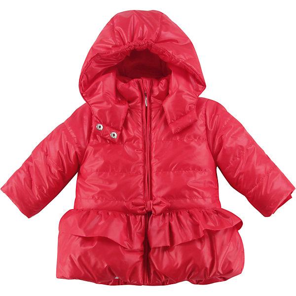Куртка утепленная для девочки WojcikВерхняя одежда<br>Характеристики товара:<br><br>• цвет: красный<br>• состав ткани: 100% полиэстер<br>• подкладка: 100% полиэстер<br>• утеплитель: 100% полиэстер<br>• сезон: демисезон<br>• температурный режим: от -5 до +10<br>• особенности модели: с капюшоном<br>• застежка: молния<br>• длинные рукава<br>• страна бренда: Польша<br>• страна изготовитель: Польша<br><br>Утепленная куртка для девочки от Войчик отличается модным кроем. Детская куртка удобно застегивается. Куртка для детей имеет мягкую приятную на ощупь подкладку. Польская детская одежда для детей от бренда Wojcik - это качественные и стильные вещи. <br><br>Куртку утепленную для девочки Wojcik (Войчик) можно купить в нашем интернет-магазине.<br>Ширина мм: 356; Глубина мм: 10; Высота мм: 245; Вес г: 519; Цвет: красный; Возраст от месяцев: 6; Возраст до месяцев: 9; Пол: Женский; Возраст: Детский; Размер: 74,98,92,86,80; SKU: 5590593;
