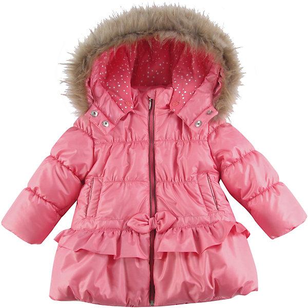 Куртка утепленная для девочки WojcikВерхняя одежда<br>Характеристики товара:<br><br>• цвет: розовый<br>• состав ткани: 100% полиэстер<br>• подкладка: 100% полиэстер<br>• утеплитель: 100% полиэстер<br>• сезон: демисезон<br>• температурный режим: от -5 до +10<br>• особенности модели: с капюшоном<br>• застежка: молния<br>• капюшон: с мехом, съемный<br>• длинные рукава<br>• страна бренда: Польша<br>• страна изготовитель: Польша<br><br>Эта утепленная куртка для девочки от Войчик дополнена отстегивающимся капюшоном с опушкой. Детская куртка удобно застегивается. Куртка для детей имеет мягкую приятную на ощупь подкладку. Польская детская одежда для детей от бренда Wojcik - это качественные и стильные вещи. <br><br>Куртку утепленную для девочки Wojcik (Войчик) можно купить в нашем интернет-магазине.<br><br>Ширина мм: 356<br>Глубина мм: 10<br>Высота мм: 245<br>Вес г: 519<br>Цвет: розовый<br>Возраст от месяцев: 6<br>Возраст до месяцев: 9<br>Пол: Женский<br>Возраст: Детский<br>Размер: 74,98,92,86,80<br>SKU: 5590786