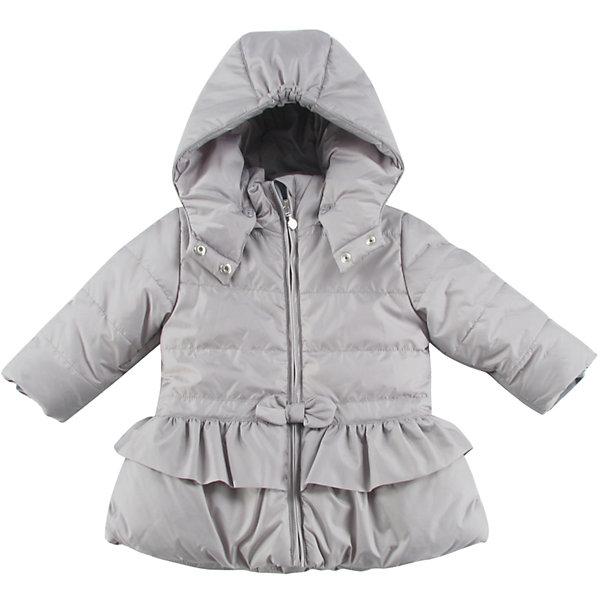 Куртка утепленная для девочки WojcikВерхняя одежда<br>Характеристики товара:<br><br>• цвет: серый<br>• состав ткани: 100% полиэстер<br>• подкладка: 100% полиэстер<br>• утеплитель: 100% полиэстер<br>• сезон: демисезон<br>• температурный режим: от -5 до +10<br>• особенности модели: с капюшоном<br>• застежка: молния<br>• длинные рукава<br>• страна бренда: Польша<br>• страна изготовитель: Польша<br><br>Серая утепленная куртка для девочки от Войчик отличается модным кроем. Детская куртка удобно застегивается. Куртка для детей имеет мягкую приятную на ощупь подкладку. Польская детская одежда для детей от бренда Wojcik - это качественные и стильные вещи. <br><br>Куртку утепленную для девочки Wojcik (Войчик) можно купить в нашем интернет-магазине.<br><br>Ширина мм: 356<br>Глубина мм: 10<br>Высота мм: 245<br>Вес г: 519<br>Цвет: серый<br>Возраст от месяцев: 6<br>Возраст до месяцев: 9<br>Пол: Женский<br>Возраст: Детский<br>Размер: 74,98,92,86,80<br>SKU: 5590878