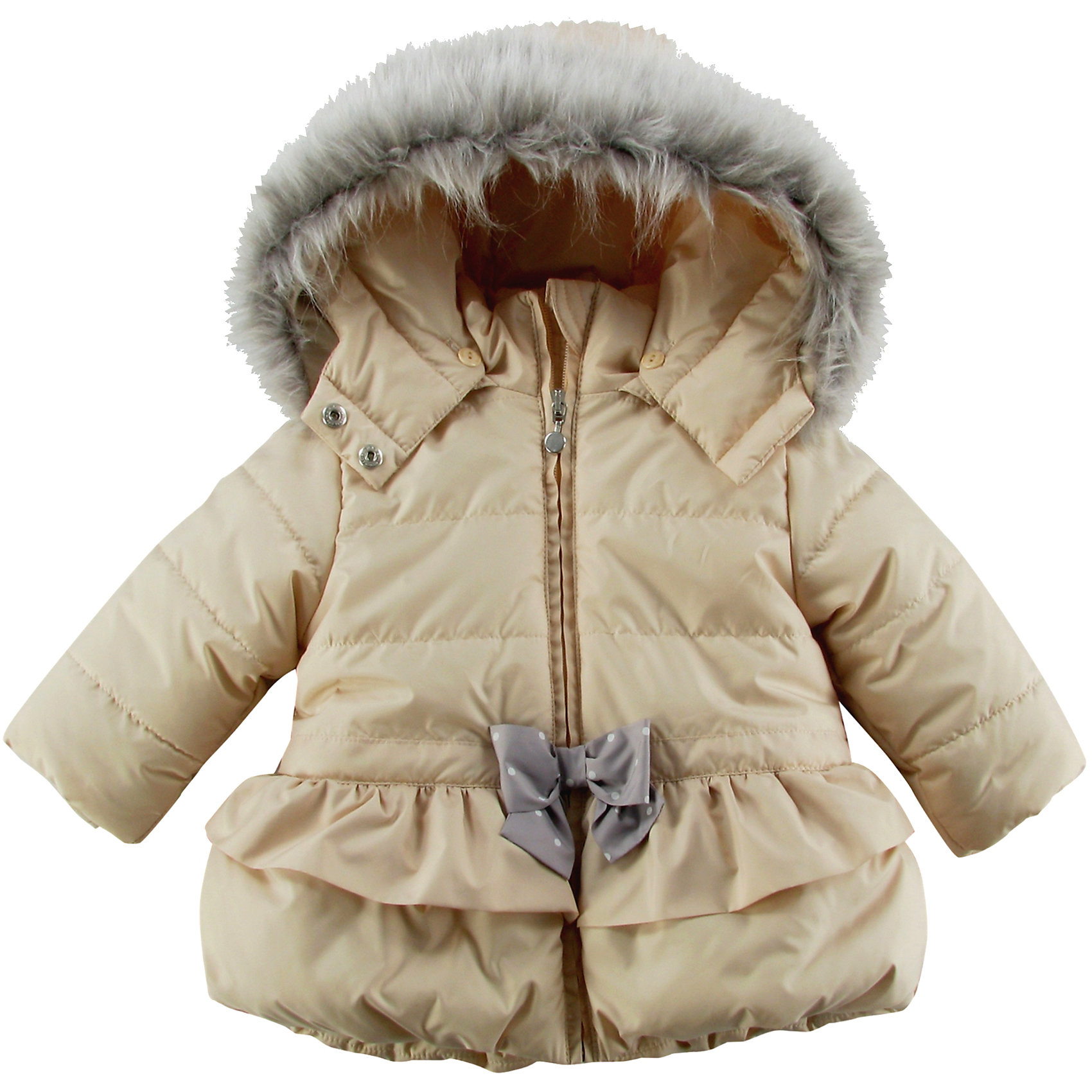 Куртка утепленная для девочки WojcikВерхняя одежда<br>Характеристики товара:<br><br>• цвет: бежевый<br>• состав ткани: 100% полиэстер<br>• подкладка: 100% полиэстер<br>• утеплитель: 100% полиэстер<br>• сезон: демисезон<br>• температурный режим: от -5 до +10<br>• особенности модели: с капюшоном<br>• застежка: молния<br>• капюшон: с мехом, съемный<br>• длинные рукава<br>• страна бренда: Польша<br>• страна изготовитель: Польша<br><br>Модная утепленная куртка для девочки от Войчик дополнена отстегивающимся капюшоном с опушкой. Детская куртка удобно застегивается. Куртка для детей имеет мягкую приятную на ощупь подкладку. Польская детская одежда для детей от бренда Wojcik - это качественные и стильные вещи. <br><br>Куртку утепленную для девочки Wojcik (Войчик) можно купить в нашем интернет-магазине.<br><br>Ширина мм: 356<br>Глубина мм: 10<br>Высота мм: 245<br>Вес г: 519<br>Цвет: бежевый<br>Возраст от месяцев: 6<br>Возраст до месяцев: 9<br>Пол: Женский<br>Возраст: Детский<br>Размер: 74,98,92,86,80<br>SKU: 5590885