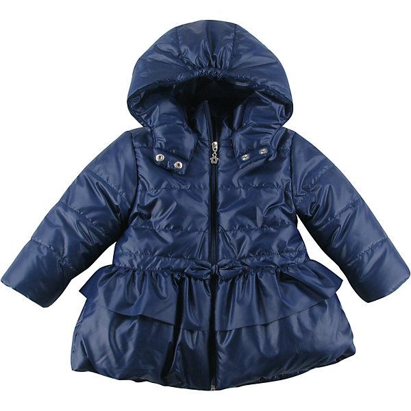 Куртка утепленная для девочки WojcikВерхняя одежда<br>Характеристики товара:<br><br>• цвет: синий<br>• состав ткани: 100% полиэстер<br>• подкладка: 100% полиэстер<br>• утеплитель: 100% полиэстер<br>• сезон: демисезон<br>• температурный режим: от -5 до +10<br>• особенности модели: с капюшоном<br>• застежка: молния<br>• длинные рукава<br>• страна бренда: Польша<br>• страна изготовитель: Польша<br><br>Такая утепленная куртка для девочки от Войчик отличается модным кроем. Детская куртка удобно застегивается. Куртка для детей имеет мягкую приятную на ощупь подкладку. Польская детская одежда для детей от бренда Wojcik - это качественные и стильные вещи. <br><br>Куртку утепленную для девочки Wojcik (Войчик) можно купить в нашем интернет-магазине.<br>Ширина мм: 356; Глубина мм: 10; Высота мм: 245; Вес г: 519; Цвет: темно-синий; Возраст от месяцев: 6; Возраст до месяцев: 9; Пол: Женский; Возраст: Детский; Размер: 74,98,92,86,80; SKU: 5590987;