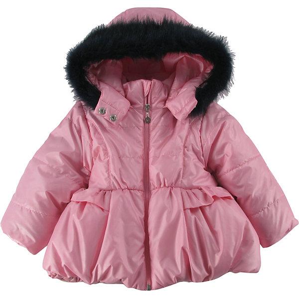 Куртка утепленная для девочки WojcikВерхняя одежда<br>Характеристики товара:<br><br>• цвет: розовый<br>• состав ткани: 100% полиэстер<br>• подкладка: 100% полиэстер<br>• утеплитель: 100% полиэстер<br>• сезон: демисезон<br>• температурный режим: от -5 до +10<br>• особенности модели: с капюшоном<br>• застежка: молния<br>• капюшон: с мехом, съемный<br>• длинные рукава<br>• страна бренда: Польша<br>• страна изготовитель: Польша<br><br>Утепленная куртка для девочки от Войчик дополнена отстегивающимся капюшоном с опушкой. Детская куртка удобно застегивается. Куртка для детей имеет мягкую приятную на ощупь подкладку. Польская детская одежда для детей от бренда Wojcik - это качественные и стильные вещи. <br><br>Куртку утепленную для девочки Wojcik (Войчик) можно купить в нашем интернет-магазине.<br><br>Ширина мм: 356<br>Глубина мм: 10<br>Высота мм: 245<br>Вес г: 519<br>Цвет: розовый<br>Возраст от месяцев: 6<br>Возраст до месяцев: 9<br>Пол: Женский<br>Возраст: Детский<br>Размер: 74,98,92,86,80<br>SKU: 5590994