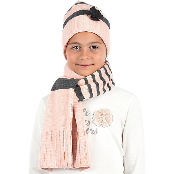 Комплект для девочки WojcikГоловные уборы<br>Характеристики товара:<br><br>• цвет: розовый<br>• комплектация: шарф, шапка<br>• состав ткани: 100% акрил<br>• сезон: демисезон<br>• декор: цветок<br>• страна бренда: Польша<br>• страна изготовитель: Польша<br><br>Оригинальный демисезонный комплект для девочки Wojcik симпатично смотрится. Детские шарф и шапка удобно сидят и не колются. Такие шарф и шапка для детей - мягкие и комфортные. Одежда для детей из Польши от бренда Wojcik отличается хорошим качеством и стилем. <br><br>Комплект для девочки Wojcik (Войчик) можно купить в нашем интернет-магазине.<br><br>Ширина мм: 190<br>Глубина мм: 74<br>Высота мм: 229<br>Вес г: 236<br>Цвет: белый<br>Возраст от месяцев: 72<br>Возраст до месяцев: 84<br>Пол: Женский<br>Возраст: Детский<br>Размер: 122,134,116,110,104,146<br>SKU: 5591231