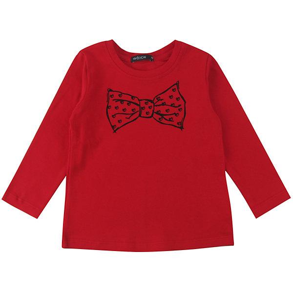 Футболка с длинным рукавом для девочки WojcikФутболки с длинным рукавом<br>Характеристики товара:<br><br>• цвет: красный<br>• состав ткани: 92% хлопок, 8% эластан<br>• сезон: демисезон<br>• длинные рукава<br>• страна бренда: Польша<br>• страна изготовитель: Польша<br><br>Товары от бренда Wojcik - это польская детская одежда отличного качества по доступной цене. Такой лонгслив для детей сделан из дышащего мягкого материала. Модная футболка с длинным рукавом для девочки Войчик легко надевается. Детский лонгслив декорирован принтом. <br><br>Лонгслив для девочки Wojcik (Войчик) можно купить в нашем интернет-магазине.<br>Ширина мм: 230; Глубина мм: 40; Высота мм: 220; Вес г: 250; Цвет: красный; Возраст от месяцев: 96; Возраст до месяцев: 108; Пол: Женский; Возраст: Детский; Размер: 134,92,128,122,116,110,104,98; SKU: 5591550;