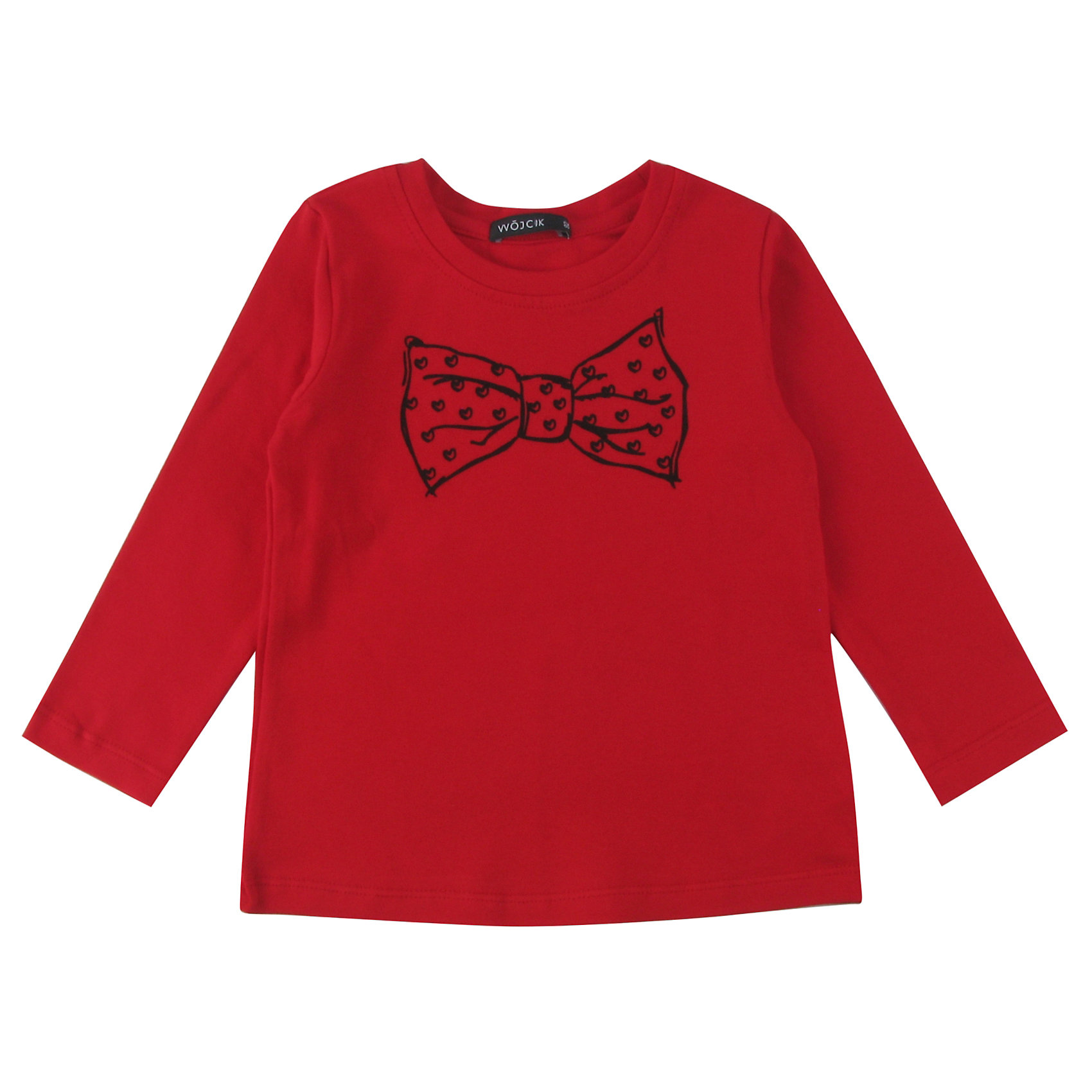 Футболка с длинным рукавом для девочки WojcikФутболки с длинным рукавом<br>Характеристики товара:<br><br>• цвет: красный<br>• состав ткани: 92% хлопок, 8% эластан<br>• сезон: демисезон<br>• длинные рукава<br>• страна бренда: Польша<br>• страна изготовитель: Польша<br><br>Товары от бренда Wojcik - это польская детская одежда отличного качества по доступной цене. Такой лонгслив для детей сделан из дышащего мягкого материала. Модная футболка с длинным рукавом для девочки Войчик легко надевается. Детский лонгслив декорирован принтом. <br><br>Лонгслив для девочки Wojcik (Войчик) можно купить в нашем интернет-магазине.<br><br>Ширина мм: 230<br>Глубина мм: 40<br>Высота мм: 220<br>Вес г: 250<br>Цвет: красный<br>Возраст от месяцев: 18<br>Возраст до месяцев: 24<br>Пол: Женский<br>Возраст: Детский<br>Размер: 92,134,128,122,116,110,104,98<br>SKU: 5591550