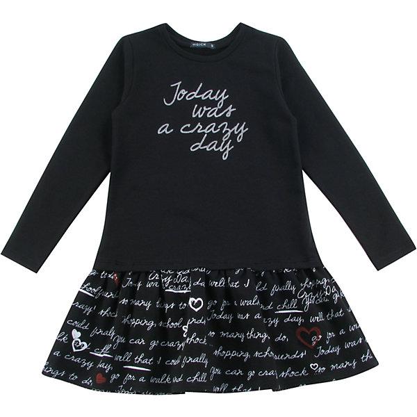 Платье для девочки WojcikПлатья и сарафаны<br>Характеристики товара:<br><br>• цвет: черный<br>• состав ткани: 92% хлопок, 8% эластан<br>• сезон: демисезон<br>• длинные рукава<br>• страна бренда: Польша<br>• страна изготовитель: Польша<br><br>Практичное и модное детское платье декорировано принтом. Бренд Wojcik - это польская детская одежда отличного качества по доступной цене. Это платье для детей сделано из качественного материала. Такое платье для девочки Войчик легко надевается. <br><br>Платье для девочки Wojcik (Войчик) можно купить в нашем интернет-магазине.<br><br>Ширина мм: 199<br>Глубина мм: 10<br>Высота мм: 161<br>Вес г: 151<br>Цвет: черный<br>Возраст от месяцев: 72<br>Возраст до месяцев: 84<br>Пол: Женский<br>Возраст: Детский<br>Размер: 134,128,122,152,146,140<br>SKU: 5591670