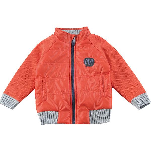 Куртка для мальчика WojcikВерхняя одежда<br>Характеристики товара:<br><br>• цвет: оранжевый<br>• состав ткани: 50% полиэстер, 25% хлопок, 25% акрил<br>• сезон: демисезон<br>• температурный режим: от +5 до +15<br>• особенности модели: без капюшона<br>• застежка: молния<br>• длинные рукава<br>• страна бренда: Польша<br>• страна изготовитель: Польша<br><br>Польская детская одежда для детей от бренда Wojcik - это качественные и стильные вещи. Куртка для мальчика от Войчик дополнена карманами и манжетами. Детская куртка удобно застегивается. Куртка для детей выполнена в модной яркой расцветке. <br><br>Куртку для мальчика Wojcik (Войчик) можно купить в нашем интернет-магазине.<br><br>Ширина мм: 174<br>Глубина мм: 10<br>Высота мм: 169<br>Вес г: 157<br>Цвет: красный<br>Возраст от месяцев: 3<br>Возраст до месяцев: 6<br>Пол: Мужской<br>Возраст: Детский<br>Размер: 68,86,98,92,74,80<br>SKU: 5591765