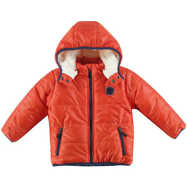 Куртка утепленная для мальчика WojcikВерхняя одежда<br>Характеристики товара:<br><br>• цвет: оранжевый<br>• состав ткани: 100% полиэстер<br>• подкладка: 100% полиэстер<br>• утеплитель: 100% полиэстер<br>• сезон: демисезон<br>• температурный режим: от -5 до +15<br>• особенности модели: с капюшоном<br>• застежка: молния<br>• длинные рукава<br>• страна бренда: Польша<br>• страна изготовитель: Польша<br><br>Польская детская одежда для детей от бренда Wojcik - это качественные и стильные вещи. Куртка для мальчика от Войчик дополнена капюшоном и карманами. Детская куртка удобно застегивается. Куртка для детей выполнена в модной яркой расцветке. <br><br>Куртку утепленную для мальчика Wojcik (Войчик) можно купить в нашем интернет-магазине.<br><br>Ширина мм: 356<br>Глубина мм: 10<br>Высота мм: 245<br>Вес г: 519<br>Цвет: красный<br>Возраст от месяцев: 6<br>Возраст до месяцев: 9<br>Пол: Мужской<br>Возраст: Детский<br>Размер: 74,98,92,86,80<br>SKU: 5591785