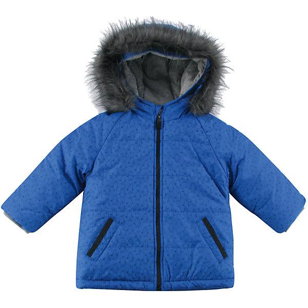 Куртка утепленная для мальчика WojcikВерхняя одежда<br>Характеристики товара:<br><br>• цвет: синий<br>• состав ткани: 100% полиэстер<br>• подкладка: 100% полиэстер<br>• утеплитель: 100% полиэстер<br>• сезон: демисезон<br>• температурный режим: от -5 до +15<br>• особенности модели: с капюшоном<br>• застежка: молния<br>• длинные рукава<br>• страна бренда: Польша<br>• страна изготовитель: Польша<br><br>Утепленная куртка для детей выполнена в модной красивой расцветке. Польская детская одежда для детей от бренда Wojcik - это качественные и стильные вещи. Куртка для мальчика от Войчик дополнена капюшоном и карманами. Детская куртка удобно застегивается. <br><br>Куртку утепленную для мальчика Wojcik (Войчик) можно купить в нашем интернет-магазине.<br>Ширина мм: 356; Глубина мм: 10; Высота мм: 245; Вес г: 519; Цвет: синий; Возраст от месяцев: 6; Возраст до месяцев: 9; Пол: Мужской; Возраст: Детский; Размер: 74,98,92,86,80; SKU: 5591849;