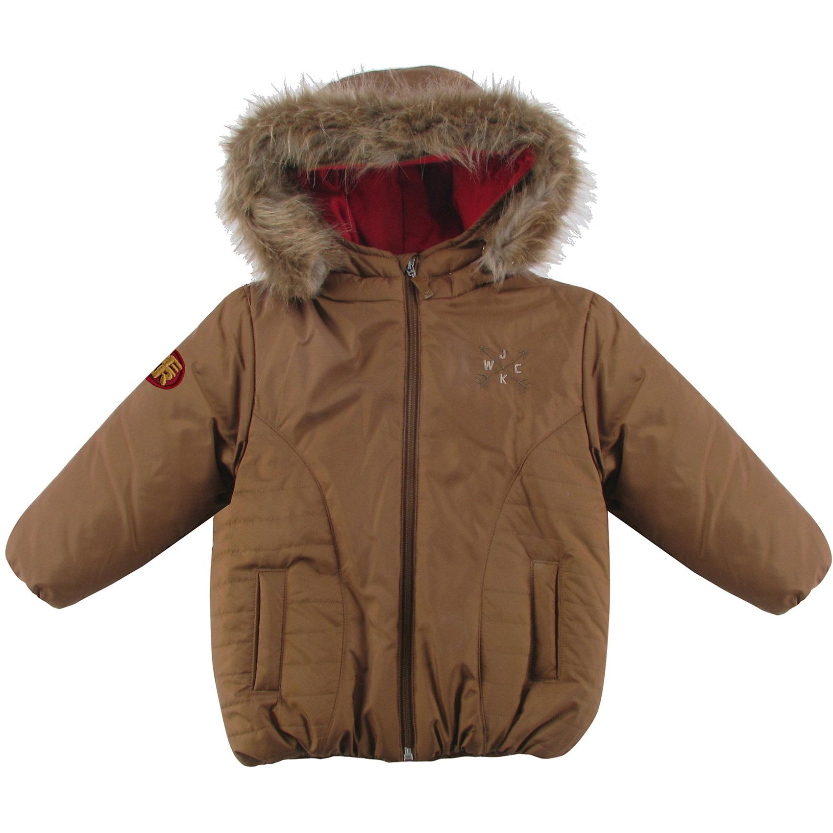 Куртка утепленная для мальчика WojcikВерхняя одежда<br>Куртка утепленная для мальчика Wojcik<br>Состав:<br>Полиэстер 100%<br><br>Ширина мм: 356<br>Глубина мм: 10<br>Высота мм: 245<br>Вес г: 519<br>Цвет: коричневый<br>Возраст от месяцев: 24<br>Возраст до месяцев: 36<br>Пол: Мужской<br>Возраст: Детский<br>Размер: 98,86,92<br>SKU: 5591977