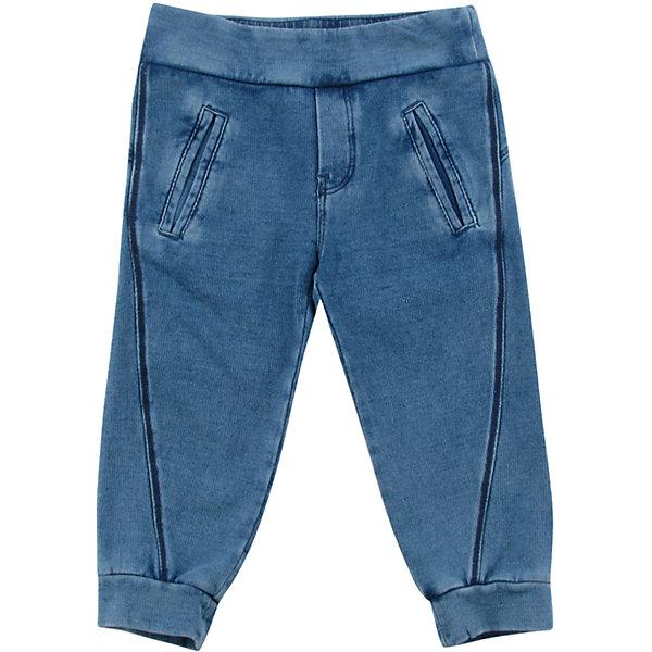 Спортивные штаны для мальчика WojcikБрюки<br>Характеристики товара:<br><br>• цвет: синий<br>• состав ткани: 97% хлопок, 3% эластан <br>• сезон: демисезон<br>• особенности модели: спортивный стиль<br>• пояс: резинка<br>• страна бренда: Польша<br>• страна изготовитель: Польша<br><br>Синие спортивные штаны для мальчика Wojcik комфортно сидят по фигуре. Эти детские брюки дополнены манжетами. Спортивные штаны для детей - дышащие и комфортные. Одежда для детей из Польши от бренда Wojcik отличается хорошим качеством и стилем. <br><br>Спортивные штаны для мальчика Wojcik (Войчик) можно купить в нашем интернет-магазине.<br><br>Ширина мм: 215<br>Глубина мм: 88<br>Высота мм: 191<br>Вес г: 336<br>Цвет: синий<br>Возраст от месяцев: 3<br>Возраст до месяцев: 6<br>Пол: Мужской<br>Возраст: Детский<br>Размер: 68,98,92,86,80,74<br>SKU: 5591988