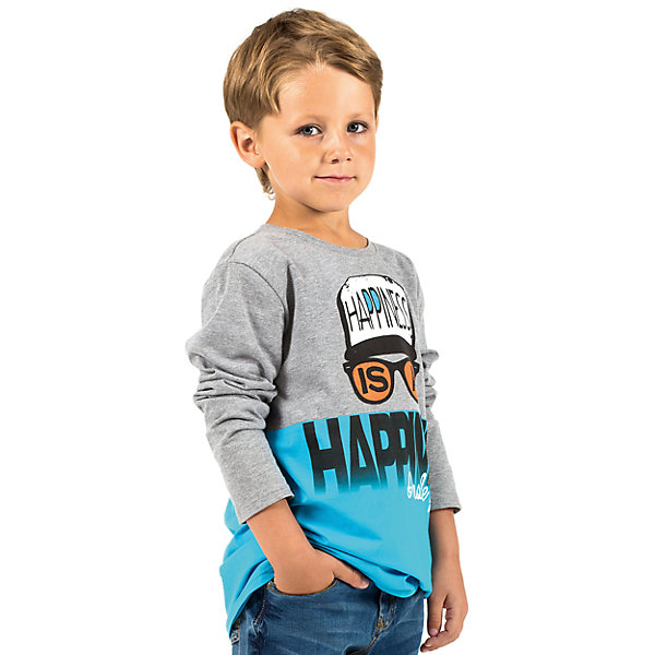 Футболка с длинным рукавом для мальчика WojcikФутболки с длинным рукавом<br>Характеристики товара:<br><br>• цвет: серый<br>• состав ткани: 92% хлопок, 8% эластан<br>• сезон: демисезон<br>• длинные рукава<br>• страна бренда: Польша<br>• страна изготовитель: Польша<br><br>Оригинальный детский лонгслив декорирован принтом. Удобный лонгслив для детей сделан из дышащего мягкого материала. Такая футболка с длинным рукавом для мальчика Войчик легко надевается. Бренд Wojcik - это польская детская одежда отличного качества по доступной цене. <br><br>Лонгслив для мальчика Wojcik (Войчик) можно купить в нашем интернет-магазине.<br><br>Ширина мм: 230<br>Глубина мм: 40<br>Высота мм: 220<br>Вес г: 250<br>Цвет: голубой<br>Возраст от месяцев: 18<br>Возраст до месяцев: 24<br>Пол: Мужской<br>Возраст: Детский<br>Размер: 92,128,122,116,110,104,98<br>SKU: 5592189