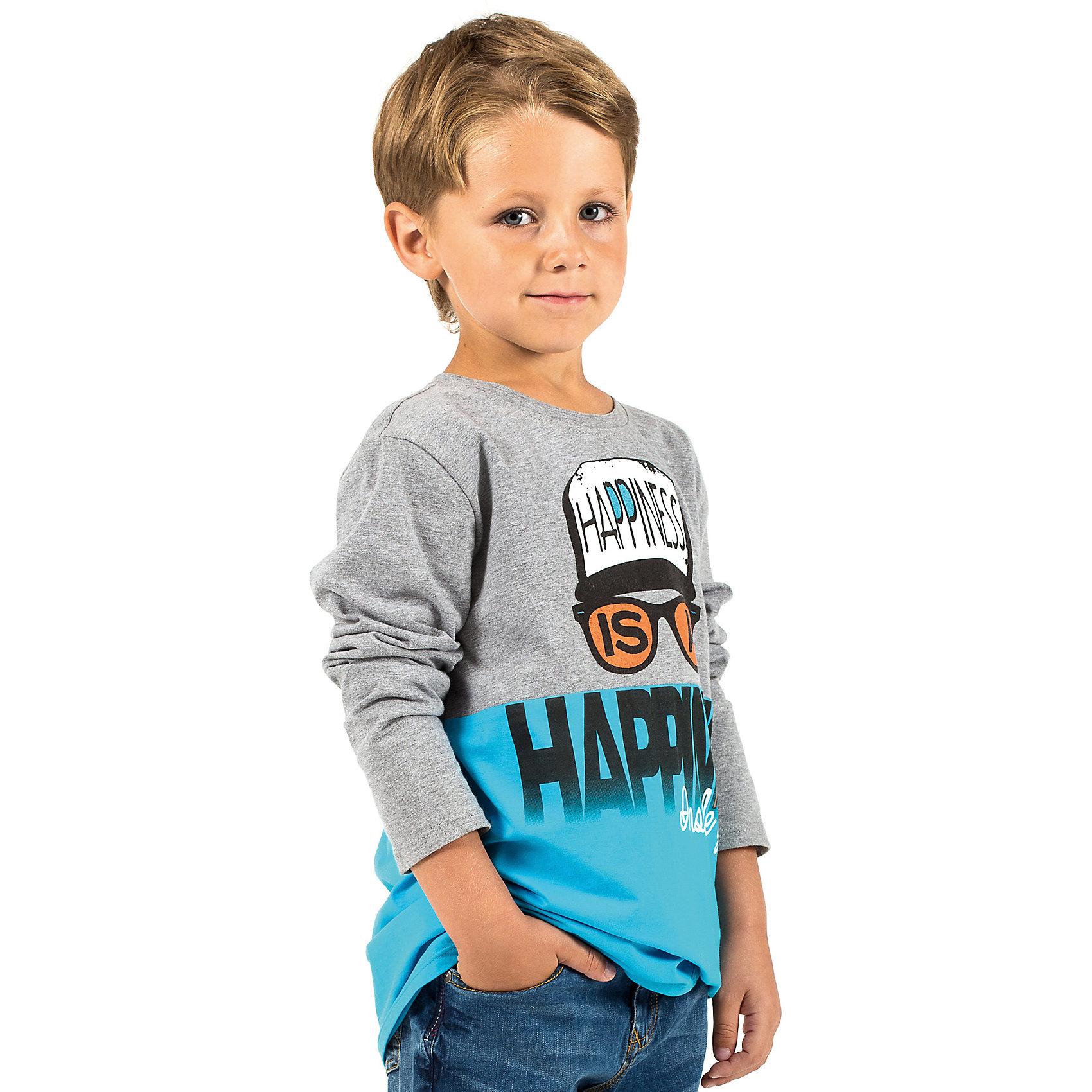 Футболка с длинным рукавом для мальчика WojcikФутболки с длинным рукавом<br>Футболка с длинным рукавом для мальчика Wojcik<br>Состав:<br>Хлопок 92% Эластан 8%<br><br>Ширина мм: 230<br>Глубина мм: 40<br>Высота мм: 220<br>Вес г: 250<br>Цвет: голубой<br>Возраст от месяцев: 84<br>Возраст до месяцев: 96<br>Пол: Мужской<br>Возраст: Детский<br>Размер: 128,92,98,104,110,116,122<br>SKU: 5592189