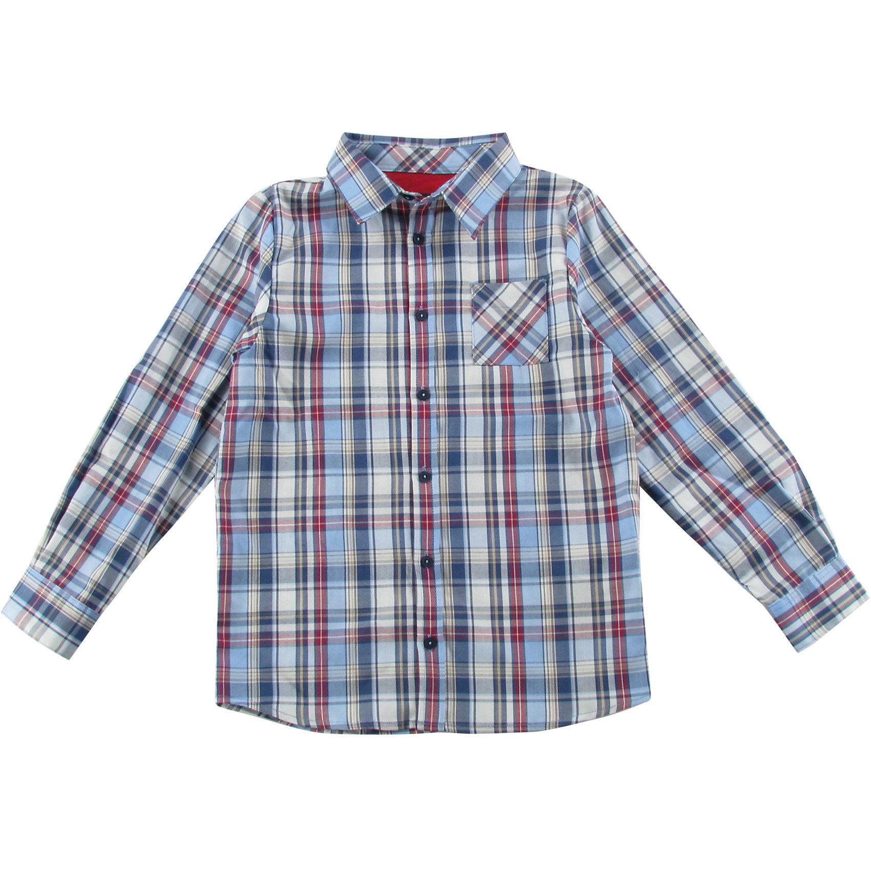 Рубашка для мальчика WojcikБлузки и рубашки<br>Характеристики товара:<br><br>• цвет: белый<br>• состав ткани: 100% хлопок<br>• сезон: демисезон<br>• застежка: пуговицы<br>• длинные рукава<br>• страна бренда: Польша<br>• страна изготовитель: Польша<br><br>Такая клетчатая рубашка с длинным рукавом для мальчика Войчик легко надевается благодаря пуговицам. Хлопковая рубашка для детей сделана из легкого дышащего материала. Бренд Wojcik - это польская детская одежда отличного качества по доступной цене. <br><br>Рубашку для мальчика Wojcik (Войчик) можно купить в нашем интернет-магазине.<br><br>Ширина мм: 174<br>Глубина мм: 10<br>Высота мм: 169<br>Вес г: 157<br>Цвет: белый<br>Возраст от месяцев: 84<br>Возраст до месяцев: 96<br>Пол: Мужской<br>Возраст: Детский<br>Размер: 128,152,146,140,134<br>SKU: 5592260