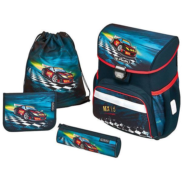 Herlitz Ранец LOOP PLUS Super Racer, с наполнениемРанцы<br>Ранец LOOP PLUS Super Racer с наполнением<br> - пенал с наполнением 16 предметов<br>- пенал-косметичка<br>- мешок для обуви<br>Описание:<br>размер 37х31х24см <br>-полиэстер<br>- замок-защелка легко открывается и закрывается благодаря специальному клапану,<br>- 2 внутренних отделения<br>- расписание уроков под крышкой ранца<br>- передний наружный карман на  «молнии»<br>- водоотталкивающая ткань<br>- светоотражатели 3M на переднем кармане, боковых карманах и лямках<br>- прочное пластиковое  дно защищающие от загрязнения<br>- 2 боковых  кармана на резиночке<br>- эргономичная спинка и уплотненные регулируемые лямки из вентилируемого материала.<br>вес менее 1000 гр                                                                                                 вмещает А4                                                                                                  лямки настраиваются  под  рост  ребенка<br>Ширина мм: 9999; Глубина мм: 9999; Высота мм: 9999; Вес г: 1180; Возраст от месяцев: 72; Возраст до месяцев: 120; Пол: Мужской; Возраст: Детский; SKU: 5595056;