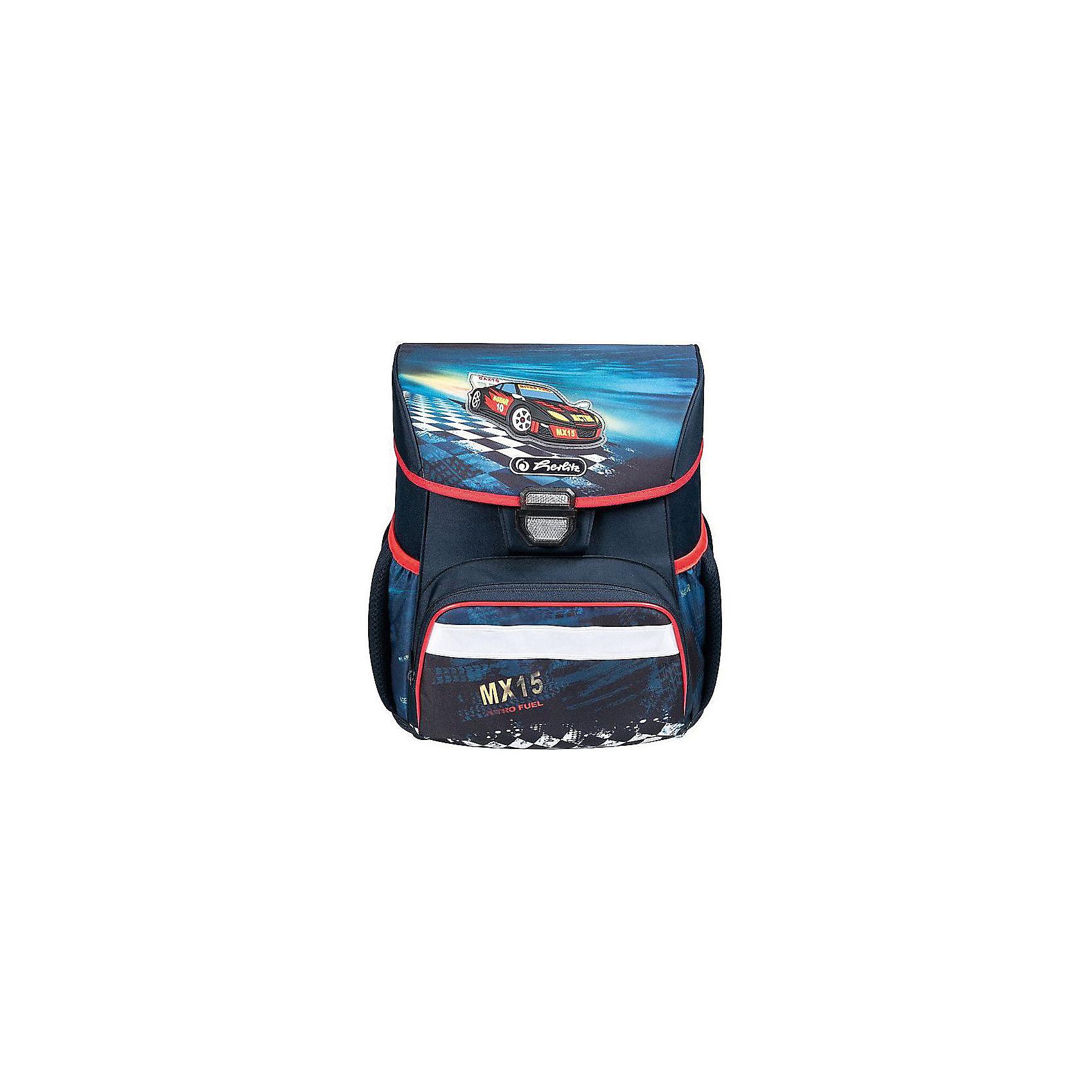 Ранец Herlitz LOOP Super Racer, без наполненияРанцы<br>Ранец LOOP Super Racer без наполнения<br>Описание:<br>размер 37х31х24см <br>-полиэстер<br>- замок-защелка легко открывается и закрывается благодаря специальному клапану,<br>- 2 внутренних отделения<br>- расписание уроков под крышкой ранца<br>- передний наружный карман на  «молнии»<br>- водоотталкивающая ткань<br>- светоотражатели 3M на переднем кармане, боковых карманах и лямках<br>- прочное пластиковое  дно защищающие от загрязнения<br>- 2 боковых  кармана на резиночке<br>- эргономичная спинка и уплотненные регулируемые лямки из вентилируемого материала.<br>вес 850  гр                                                                                                 вмещает А4                                                                                                  лямки настраиваются  под  рост  ребенка<br><br>Ширина мм: 310<br>Глубина мм: 370<br>Высота мм: 240<br>Вес г: 890<br>Возраст от месяцев: 72<br>Возраст до месяцев: 120<br>Пол: Мужской<br>Возраст: Детский<br>SKU: 5595063