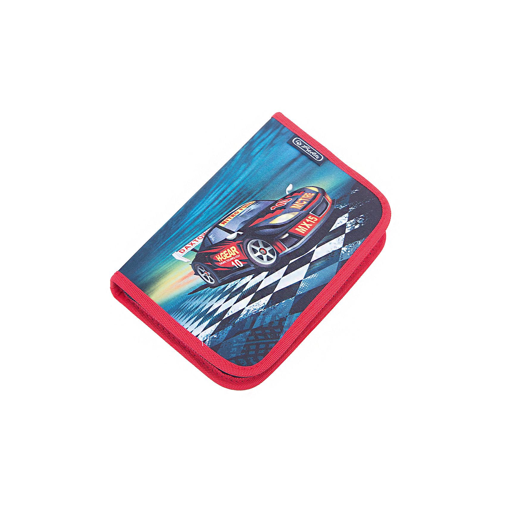 Herlitz Пенал с наполнением 31 предмет, Super RacerПеналы с наполнением<br>Пенал с наполнением Super Racer<br>31 предмет<br>Описание:<br>- 20,5х14х3,5<br>- 1 отделение, 2 откидные створки<br>- прочный кант, жесткая обложка<br>Наполнение:<br>- 1 шариковая ручка,<br>- 2 чернографитных карандаша,<br>- 8 цветных карандашей, 14 фломастеров<br>- линейка и угольник, ластик и точилка,<br>- расписание уроков на русском языке,<br>- личные данные ученика<br><br>Ширина мм: 140<br>Глубина мм: 205<br>Высота мм: 35<br>Вес г: 326<br>Возраст от месяцев: 72<br>Возраст до месяцев: 120<br>Пол: Мужской<br>Возраст: Детский<br>SKU: 5595079