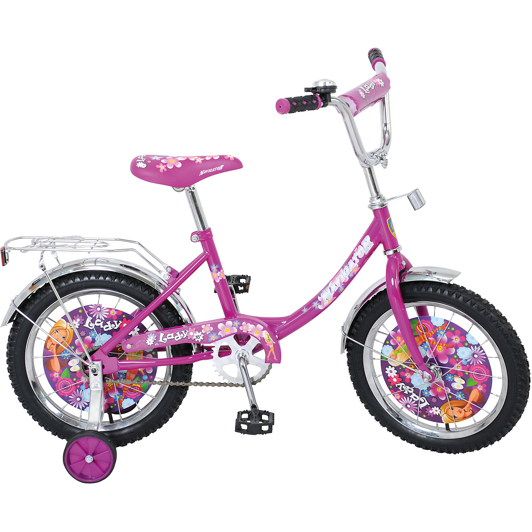 Двухколесный велосипед Lady, фиолетовый, Navigator