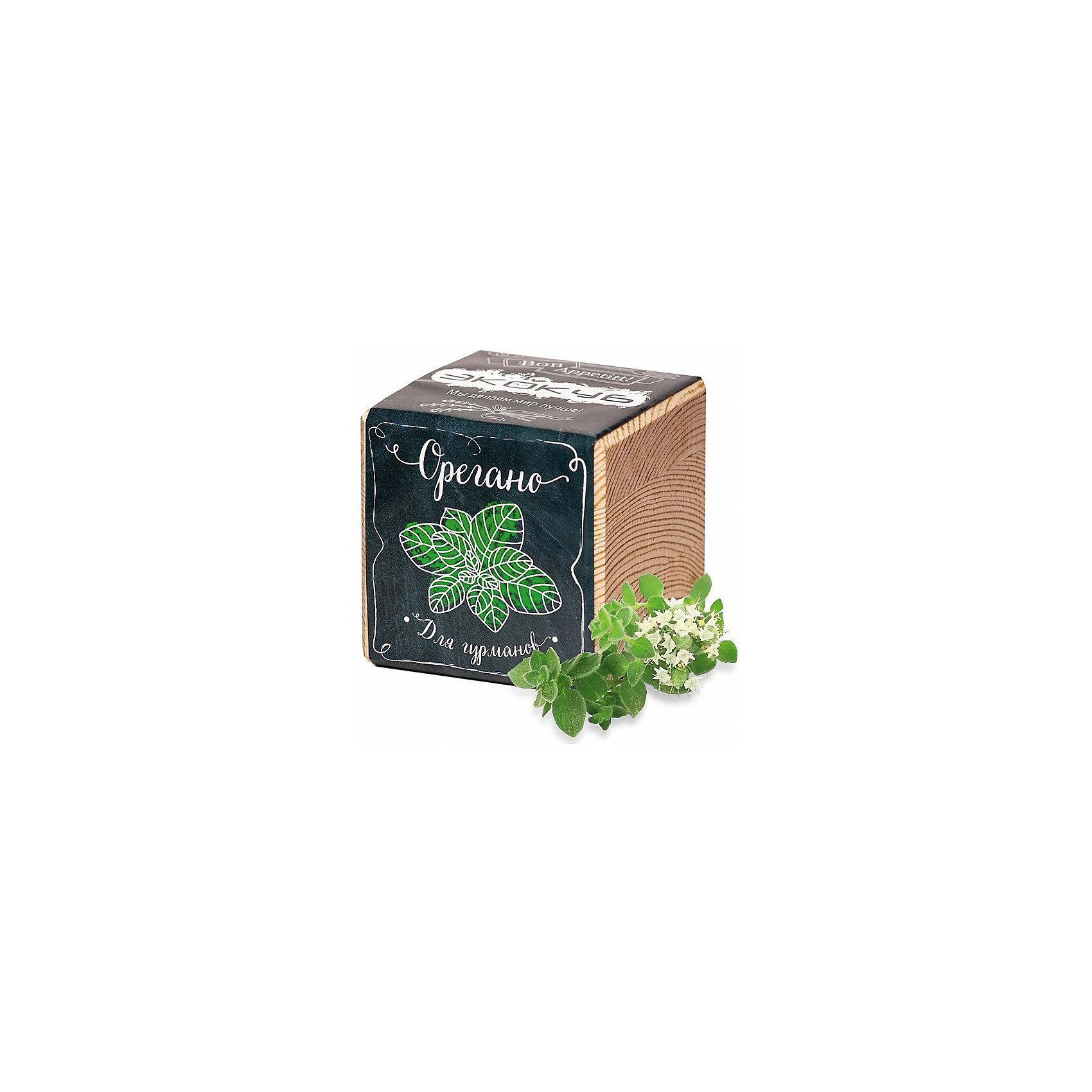 Набор для выращивания Орегано, ЭкокубНаборы для выращивания растений<br>Наборы Эко Куб - удивительная вещь, которая станет необычным украшением дома или оригинальным подарком. С виду это лишь маленьникй деревянный кубик, но внутри него спрятано настоящее деревце, которое вы самостоятельно сможете прорастить из семечка и собрать урожай. Это увлекательное и полезное занятие для всей семьи, которое поможет родителям стать ближе к своим детям. Набор учит ребенка заботиться о живых существах, воспитывает чувство ответственности.<br><br>Ширина мм: 80<br>Глубина мм: 80<br>Высота мм: 80<br>Вес г: 212<br>Возраст от месяцев: 60<br>Возраст до месяцев: 2147483647<br>Пол: Унисекс<br>Возраст: Детский<br>SKU: 5596060