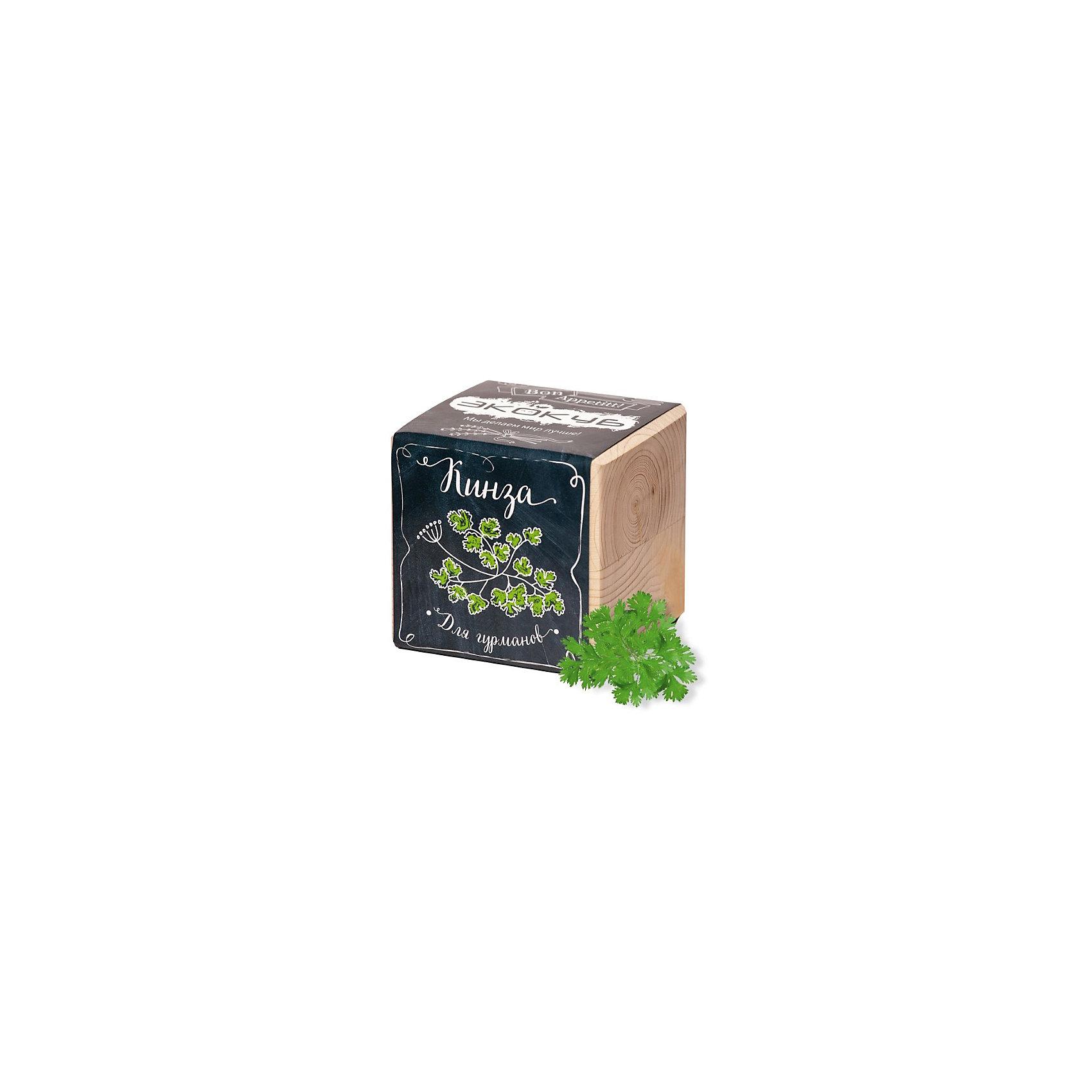 Набор для выращивания Кинза, ЭкокубНаборы для выращивания растений<br>Наборы Эко Куб - удивительная вещь, которая станет необычным украшением дома или оригинальным подарком. С виду это лишь маленьникй деревянный кубик, но внутри него спрятано настоящее деревце, которое вы самостоятельно сможете прорастить из семечка и собрать урожай. Это увлекательное и полезное занятие для всей семьи, которое поможет родителям стать ближе к своим детям. Набор учит ребенка заботиться о живых существах, воспитывает чувство ответственности.<br><br>Ширина мм: 80<br>Глубина мм: 80<br>Высота мм: 80<br>Вес г: 186<br>Возраст от месяцев: 60<br>Возраст до месяцев: 2147483647<br>Пол: Унисекс<br>Возраст: Детский<br>SKU: 5596063