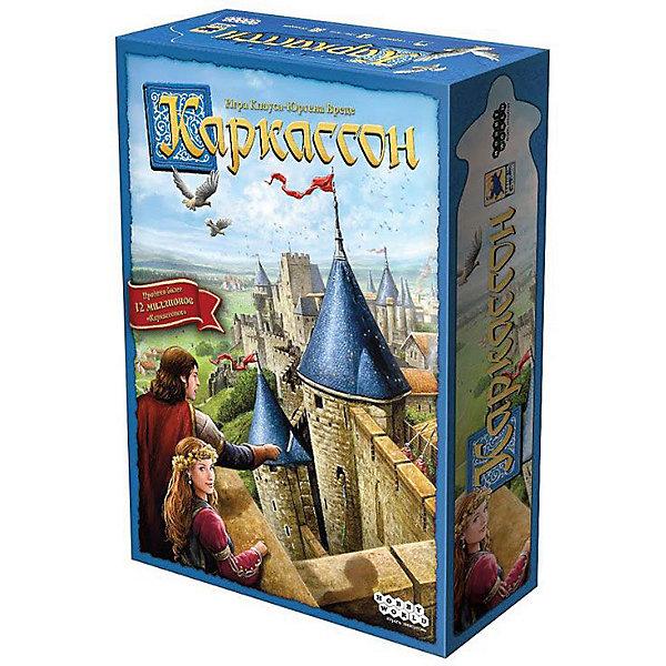 Игра Каркассон, Hobby WorldСтратегические настольные игры<br>Характеристики товара:<br><br>• возраст: от 8 лет;<br>• материал: картон;<br>• количество игроков: 2-5 человек;<br>• время игры: 30-60 минут;<br>• в комплекте: 135 карт, 4 дорожки подсчета очков, 10 фишек подданных, 5 сундуков, 5 жетонов, правила игры;<br>• размер упаковки 27,7х19,4х6,4 см;<br>• вес упаковки 635 гр.;<br>• страна производитель: Россия.<br><br>Игра «Каркассон» Hobby World позволит увлекательно провести время в компании. В процессе игры игроки выстраивают свои владения, используя карты с дорогами, замками и т.д. Карточки устанавливаются так, чтобы изображение на ней совпадало с границей предыдущей карты. Подданные помогают расширить владения. За подданных начисляются очки. В конце игры надо набрать как можно больше баллов.<br><br>Игру «Каркассон» Hobby World можно приобрести в нашем интернет-магазине.<br><br>Ширина мм: 277<br>Глубина мм: 194<br>Высота мм: 64<br>Вес г: 635<br>Возраст от месяцев: 96<br>Возраст до месяцев: 2147483647<br>Пол: Унисекс<br>Возраст: Детский<br>SKU: 5597223