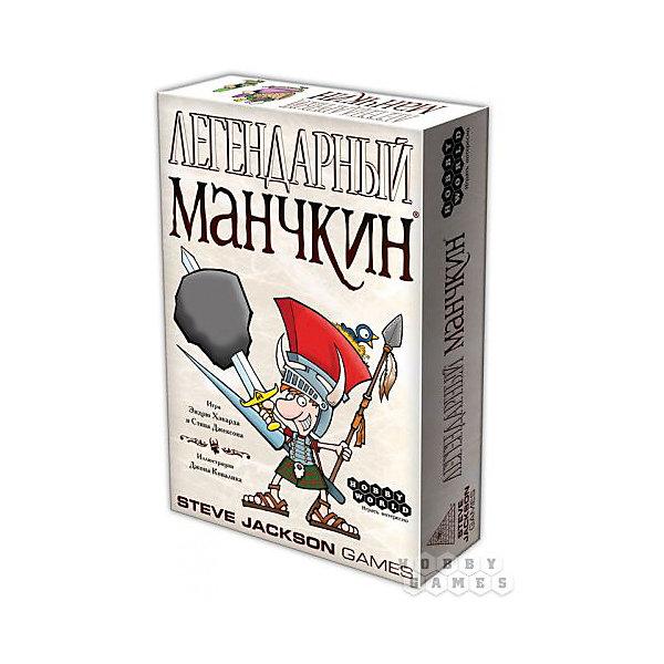 Игра Легендарный Манчкин,  Hobby WorldТоп игр<br>Характеристики товара:<br><br>• возраст: от 12 лет;<br>• материал: картон;<br>• количество игроков: 3-6 человек;<br>• время игры: от 30 минут;<br>• в комплекте: 96 карт дверей, 72 карты сокровищ, кубик, правила игры;<br>• размер упаковки 23,3х15,5х4,9 см;<br>• вес упаковки 432 гр.;<br>• страна производитель: Россия.<br><br>Игра настольная «Легендарный Манчкин» Hobby World позволит увлекательно провести время в компании друзей. Каждый игрок в игре управляет своим манчкином и должен довести его до 10 уровня. Игра состоит из отдельных ходов каждого игрока, а в каждом ходе несколько фаз.<br><br>Игру настольную «Легендарный Манчкин» Hobby World можно приобрести в нашем интернет-магазине.<br>Ширина мм: 233; Глубина мм: 155; Высота мм: 49; Вес г: 432; Возраст от месяцев: 144; Возраст до месяцев: 2147483647; Пол: Унисекс; Возраст: Детский; SKU: 5597227;