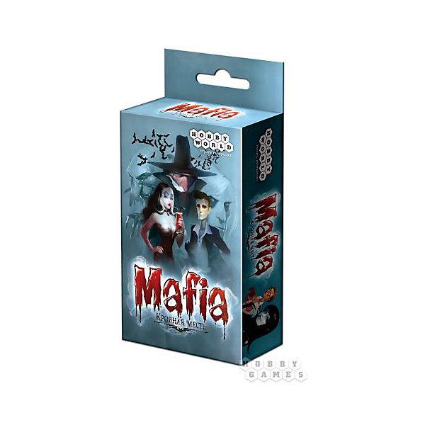 Игра Мафия. Кровная месть, карточная версия,  Hobby WorldНастольные игры для всей семьи<br>Характеристики товара:<br><br>• возраст: от 14 лет;<br>• материал: картон;<br>• количество игроков: от 6 человек;<br>• время игры: 30-90 минут;<br>• в комплекте: 27 карт ролей, 18 карт ведущего, памятка, правила игры;<br>• размер упаковки 13,5х7х2,5 см;<br>• вес упаковки 104 гр.;<br>• страна производитель: Россия.<br><br>Игра «Мафия. Кровная месть» карточная версия Hobby World — всемирно известная игра в «Мафию», только с вампирами и охотниками. Игра делится на периоды дня и ночи. Ночью игроки пытаются угадать, где же охотники. А днем охотники убивают своих жертв.<br><br>Игру «Мафия. Кровная месть» карточную версию Hobby World можно приобрести в нашем интернет-магазине.<br><br>Ширина мм: 135<br>Глубина мм: 70<br>Высота мм: 25<br>Вес г: 104<br>Возраст от месяцев: 168<br>Возраст до месяцев: 2147483647<br>Пол: Унисекс<br>Возраст: Детский<br>SKU: 5597228