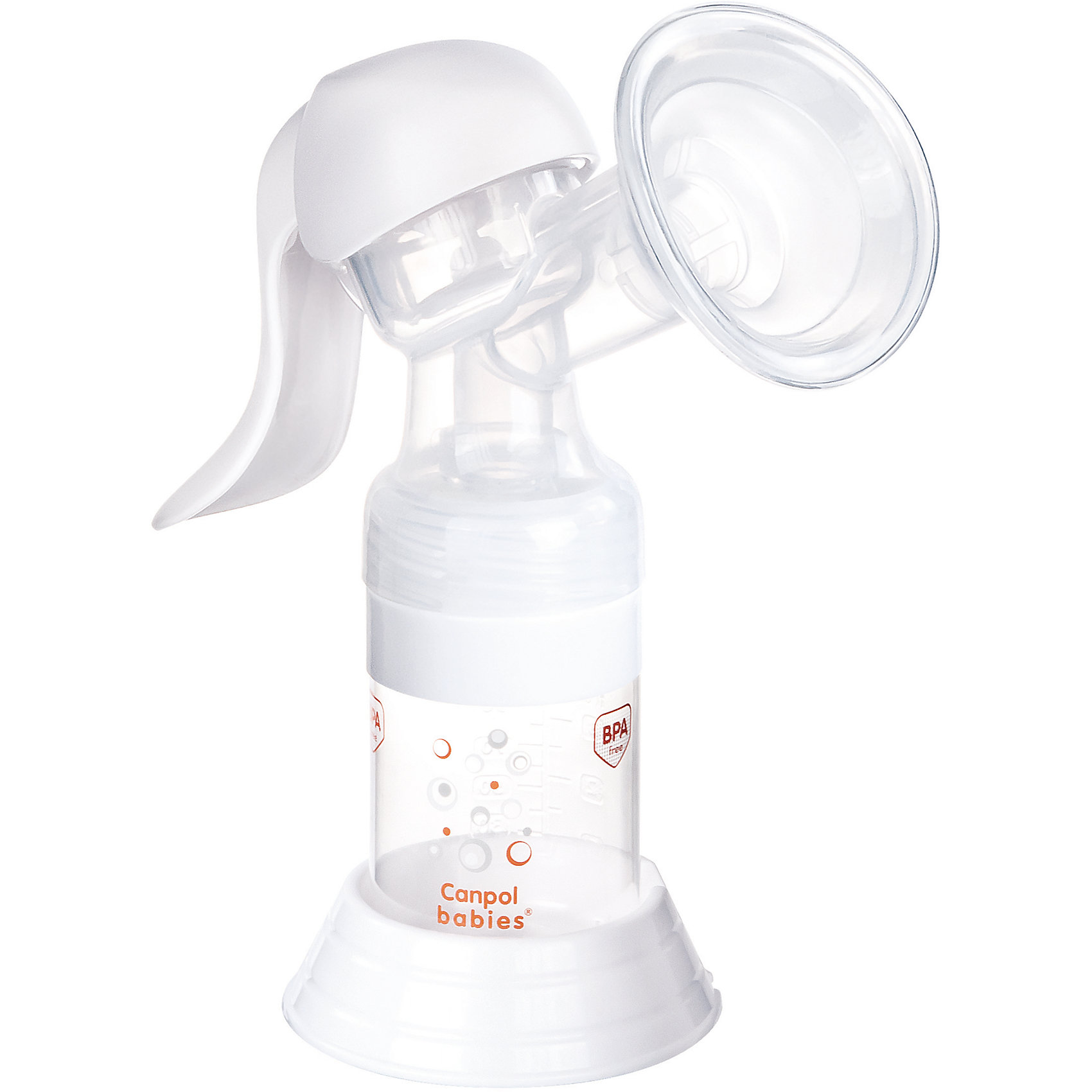 Молокоотсос ручной Basic, Canpol BabiesДетская бытовая техника<br>Молокоотсос ручной Basic, Canpol Babies.<br><br>Характеристики:<br><br>• В комплекте: бутылочка для кормления 125 мл, корпус с массажной насадкой, адаптер для бутылочек с узким горлышком, соска силиконовая от 3 мес., уплотнительный диск для хранения молока в бутылочке, втулка для соединения корпуса и бутылочки, сумка для хранения молокоотсоса<br>• Материал: полипропилен, силикон, полиоксиметилен<br><br>Ручной молокоотсос Basic - гарантирует простоту и удобство процесса сцеживания молока. Благодаря небольшому количеству элементов его легко собирать и содержать в чистоте. Молокоотсос обладает эргономичной ручкой, что позволяет сцеживать молоко, не прилагая особых усилий. Силиконовая накладка обеспечивает идеальный контакт воронки с грудью и нежное стимулирование во время сцеживания. Комфортный сбор молока прямо в бутылочку для кормления позволит накормить ребенка в любой момент. Благодаря специальному адаптеру молокоотсос можно использовать со всеми видами бутылочек Canpol babies, как с узким, так и с широким горлышком. Ручной молокоотсос Basic выполнен из нетоксичных, долговечных и безопасных материалов.<br><br>Молокоотсос ручной Basic, Canpol Babies можно купить в нашем интернет-магазине.<br><br>Ширина мм: 200<br>Глубина мм: 90<br>Высота мм: 195<br>Вес г: 493<br>Возраст от месяцев: 0<br>Возраст до месяцев: 1188<br>Пол: Унисекс<br>Возраст: Детский<br>SKU: 5598825