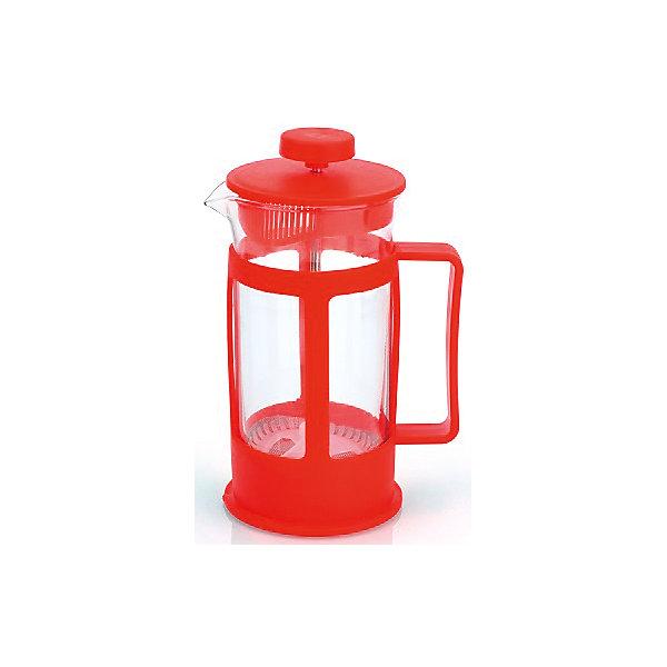 Кофейник стеклянный 350 мл, МФК-профит, красныйКухонная утварь<br>Кофейник стеклянный 350 мл, МФК-профит, красный.<br><br>Характеристики:<br><br>• Объем: 350 мл.<br>• Цвет: красный<br>• Материал: стекло, пластик<br>• Размер упаковки: 10х8х16,5 см.<br>• Вес: 256 гр.<br><br>Кофейник для приготовления кофе, чая и настоев изготовлен из экологически чистых и безопасных материалов: корпус из высококачественного нетоксичного пластика, колба из термостойкого стекла (термостойкость до 100 ?С). Кофейник имеет удобную ручку. Не рекомендуется использовать в микроволновой печи.<br><br>Кофейник стеклянный 350 мл, МФК-профит, красный можно купить в нашем интернет-магазине.<br>Ширина мм: 100; Глубина мм: 80; Высота мм: 165; Вес г: 256; Возраст от месяцев: 36; Возраст до месяцев: 1188; Пол: Унисекс; Возраст: Детский; SKU: 5601142;