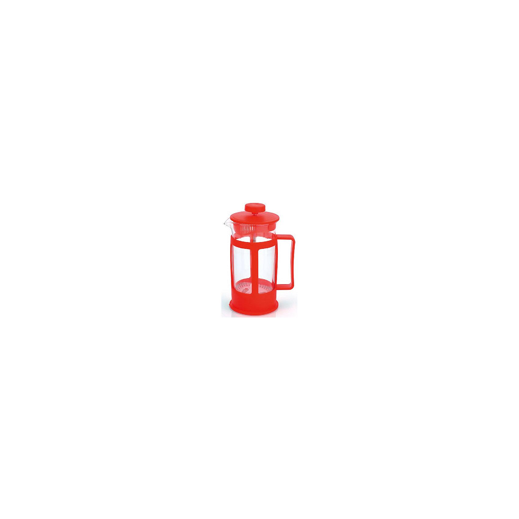 Кофейник стеклянный 350 мл, МФК-профит, красныйБытовая техника для кухни<br>Кофейник стеклянный 350 мл, МФК-профит, красный.<br><br>Характеристики:<br><br>• Объем: 350 мл.<br>• Цвет: красный<br>• Материал: стекло, пластик<br>• Размер упаковки: 10х8х16,5 см.<br>• Вес: 256 гр.<br><br>Кофейник для приготовления кофе, чая и настоев изготовлен из экологически чистых и безопасных материалов: корпус из высококачественного нетоксичного пластика, колба из термостойкого стекла (термостойкость до 100 ?С). Кофейник имеет удобную ручку. Не рекомендуется использовать в микроволновой печи.<br><br>Кофейник стеклянный 350 мл, МФК-профит, красный можно купить в нашем интернет-магазине.<br><br>Ширина мм: 100<br>Глубина мм: 80<br>Высота мм: 165<br>Вес г: 256<br>Возраст от месяцев: 36<br>Возраст до месяцев: 1188<br>Пол: Унисекс<br>Возраст: Детский<br>SKU: 5601142