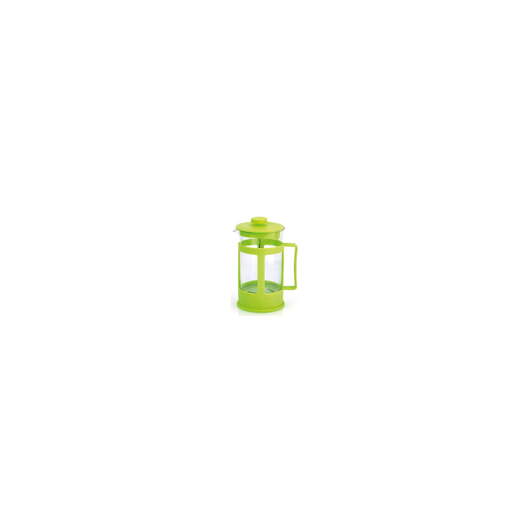 Кофейник стеклянный 600 мл, МФК-профит, зеленыйБытовая техника для кухни<br>Кофейник стеклянный 600 мл, МФК-профит, зеленый.<br><br>Характеристики:<br><br>• Объем: 600 мл.<br>• Цвет: зеленый<br>• Материал: стекло, пластик<br>• Размер упаковки: 11х10х18 см.<br>• Вес: 347 гр.<br><br>Кофейник для приготовления кофе, чая и настоев изготовлен из экологически чистых и безопасных материалов: корпус из высококачественного нетоксичного пластика, колба из термостойкого стекла (термостойкость до 100 ?С). Кофейник имеет удобную ручку. Не рекомендуется использовать в микроволновой печи.<br><br>Кофейник стеклянный 600 мл, МФК-профит, зеленый можно купить в нашем интернет-магазине.<br><br>Ширина мм: 110<br>Глубина мм: 100<br>Высота мм: 180<br>Вес г: 347<br>Возраст от месяцев: 36<br>Возраст до месяцев: 1188<br>Пол: Унисекс<br>Возраст: Детский<br>SKU: 5601144