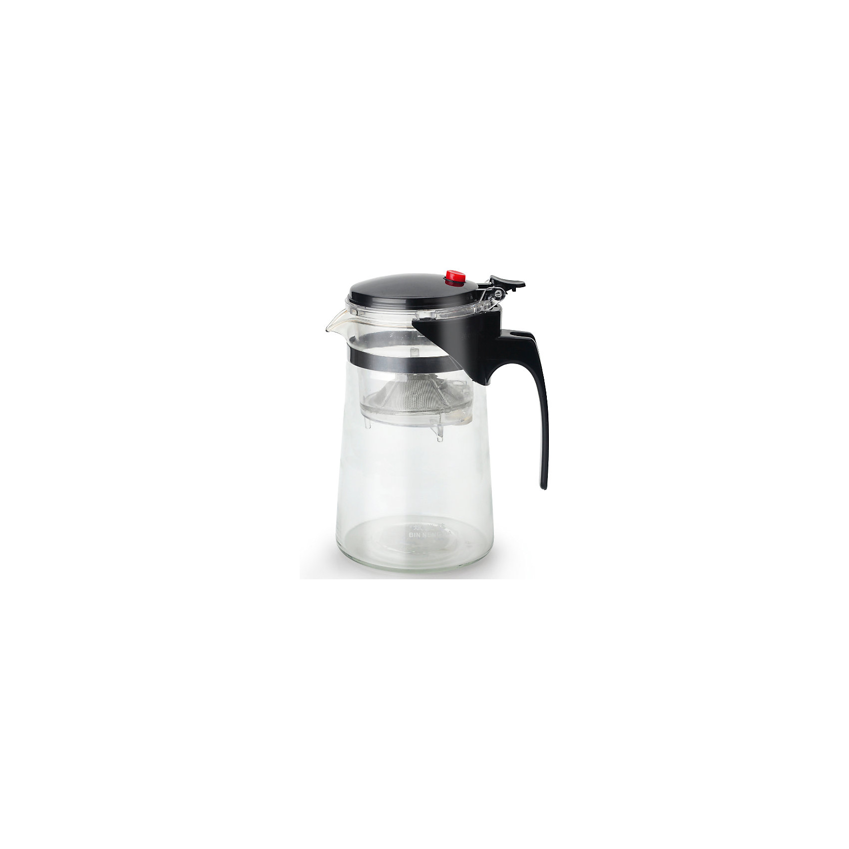 Чайник стеклянный с кнопкой 800 мл, МФК-профит, черныйБытовая техника для кухни<br>Чайник стеклянный с кнопкой 800 мл, МФК-профит, черный.<br><br>Характеристики:<br><br>• Объем: 800 мл.<br>• Цвет: черный<br>• Материал: термостойкое стекло, нетоксичный пластик, нержавеющая сталь<br>• Размер упаковки: 12х10х17,5 см.<br>• Вес: 369 гр.<br><br>Заварочный чайник с кнопкой изготовлен из термостойкого стекла (термостойкость до 100 ?С), устойчив к появлению царапин и сколов, не мутнеет и не впитывает запахов. Крышка из пластика и съемный фильтр для заваривания из нержавеющей стали долговечны и удобны в уходе. Чайник оснащён удобной не нагревающейся ручкой. Форма края носика препятствует образованию подтеков. Практичный и удобный стеклянный чайник поможет Вам приготовить крепкий, ароматный чай. Заварочный чайник рекомендуется мыть вручную с применением жидких моющих средств.<br><br>Чайник стеклянный с кнопкой 800 мл, МФК-профит, черный можно купить в нашем интернет-магазине.<br><br>Ширина мм: 120<br>Глубина мм: 100<br>Высота мм: 175<br>Вес г: 369<br>Возраст от месяцев: 36<br>Возраст до месяцев: 1188<br>Пол: Унисекс<br>Возраст: Детский<br>SKU: 5601147