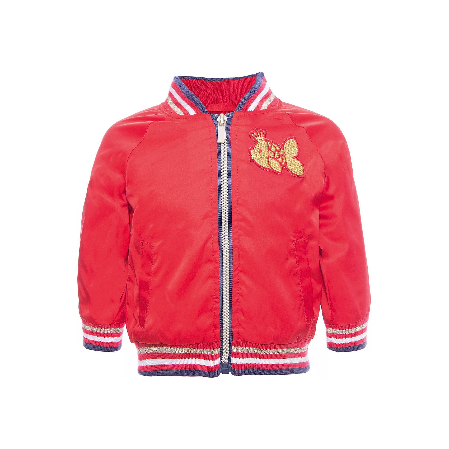 Куртка для девочки PlayTodayВерхняя одежда<br>Характеристики товара:<br><br>• цвет: красный<br>• состав: 100% полиэстер, подкладка: 65% полиэстер, 35% хлопок<br>• принт<br>• с водоотталкивающей пропиткой<br>• мягкие манжеты<br>• карманы<br>• температурный режим: от +10° до +20° С<br>• комфортная посадка<br>• коллекция: весна-лето 2017<br>• страна бренда: Германия<br>• страна производства: Китай<br><br>Популярный бренд PlayToday выпустил новую коллекцию! Вещи из неё продолжают радовать покупателей удобством, стильным дизайном и продуманным кроем. Дети носят их с удовольствием. <br>Такая стильная модель обеспечит ребенку комфорт благодаря качественному материалу и продуманному крою. В составе ткани подкладки - натуральный хлопок, который позволяет коже дышать и не вызывает аллергии.<br>PlayToday - это линейка товаров, созданная специально для детей. Дизайнеры учитывают новые веяния моды и потребности детей. Порадуйте ребенка обновкой от проверенного производителя!<br><br>Куртку для девочки от известного бренда PlayToday можно купить в нашем интернет-магазине.<br><br>Ширина мм: 356<br>Глубина мм: 10<br>Высота мм: 245<br>Вес г: 519<br>Цвет: белый<br>Возраст от месяцев: 12<br>Возраст до месяцев: 15<br>Пол: Женский<br>Возраст: Детский<br>Размер: 80,74,92,86<br>SKU: 5603826