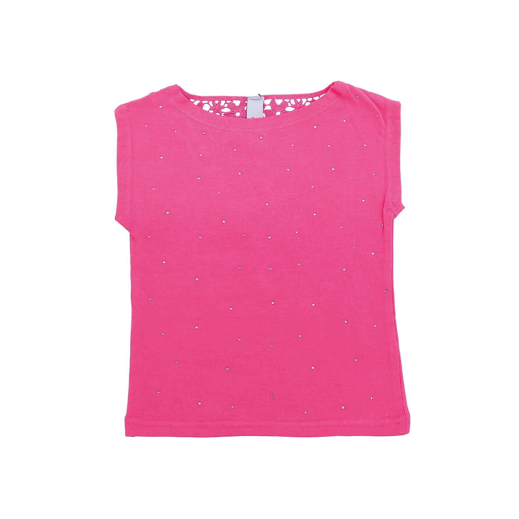 Футболка для девочки PlayTodayФутболки, поло и топы<br>Характеристики товара:<br><br>• цвет: розовый<br>• состав: 95% хлопок, 5% эластан<br>• однотонная<br>• дышащий материал<br>• мягкая окантовка<br>• эластичный трикотаж<br>• короткие рукава<br>• комфортная посадка<br>• коллекция: весна-лето 2017<br>• страна бренда: Германия<br>• страна производства: Китай<br><br>Популярный бренд PlayToday выпустил новую коллекцию! Вещи из неё продолжают радовать покупателей удобством, стильным дизайном и продуманным кроем. Дети носят их с удовольствием. <br>Такая стильная модель обеспечит ребенку комфорт благодаря качественному материалу и продуманному крою. В составе ткани - натуральный хлопок, который позволяет коже дышать и не вызывает аллергии. Такие вещи очень просты в уходе.<br>PlayToday - это линейка товаров, созданная специально для детей. Дизайнеры учитывают новые веяния моды и потребности детей. Порадуйте ребенка обновкой от проверенного производителя!<br><br>Футболку для девочки от известного бренда PlayToday можно купить в нашем интернет-магазине.<br><br>Ширина мм: 199<br>Глубина мм: 10<br>Высота мм: 161<br>Вес г: 151<br>Цвет: розовый<br>Возраст от месяцев: 6<br>Возраст до месяцев: 9<br>Пол: Женский<br>Возраст: Детский<br>Размер: 74,86,80,92<br>SKU: 5603838