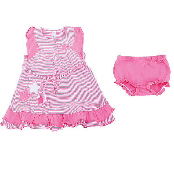 Комплект: платье и трусы для девочки PlayTodayКомплекты<br>Характеристики товара:<br><br>• цвет: розовый<br>• состав: 95% хлопок, 5% эластан<br>• комплектация: трусы, платье<br>• принт<br>• дышащий материал<br>• мягкая окантовка<br>• эластичный трикотаж<br>• рукава-крылышки<br>• комфортная посадка<br>• коллекция: весна-лето 2017<br>• страна бренда: Германия<br>• страна производства: Китай<br><br>Популярный бренд PlayToday выпустил новую коллекцию! Вещи из неё продолжают радовать покупателей удобством, стильным дизайном и продуманным кроем. Дети носят их с удовольствием. <br>Такая стильная модель обеспечит ребенку комфорт благодаря качественному материалу и продуманному крою. В составе ткани - натуральный хлопок, который позволяет коже дышать и не вызывает аллергии. Такие вещи очень просты в уходе.<br>PlayToday - это линейка товаров, созданная специально для детей. Дизайнеры учитывают новые веяния моды и потребности детей. Порадуйте ребенка обновкой от проверенного производителя!<br><br>Комплект: платье и трусы для девочки от известного бренда PlayToday можно купить в нашем интернет-магазине.<br>Ширина мм: 236; Глубина мм: 16; Высота мм: 184; Вес г: 177; Цвет: розовый; Возраст от месяцев: 12; Возраст до месяцев: 18; Пол: Женский; Возраст: Детский; Размер: 86,74,92,80; SKU: 5603853;