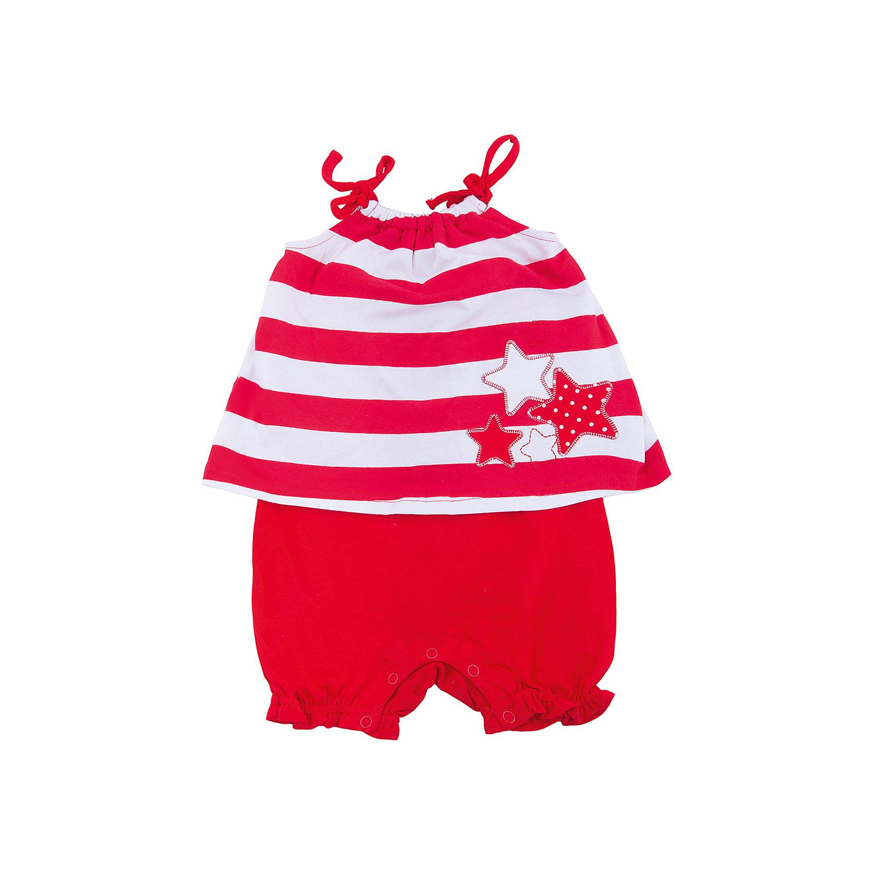 Комбинезон для девочки PlayTodayКомбинезоны<br>Комбинезон сможет быть хорошим дополнением летнего гардероба ребенка. Модель на тонких бретелях, которые завязываются на аккуратные бантики. Низ шорт декорирован оборками. Аппликация в цветовой гамме изделия является достойным украшением.Преимущества: Натуральный материал приятен к телу и не вызывает раздражений.Свободный крой не сковывает движений ребенка.<br>Состав:<br>95% хлопок, 5% эластан<br><br>Ширина мм: 215<br>Глубина мм: 88<br>Высота мм: 191<br>Вес г: 336<br>Цвет: красный<br>Возраст от месяцев: 6<br>Возраст до месяцев: 9<br>Пол: Женский<br>Возраст: Детский<br>Размер: 74,80,86,92<br>SKU: 5603868