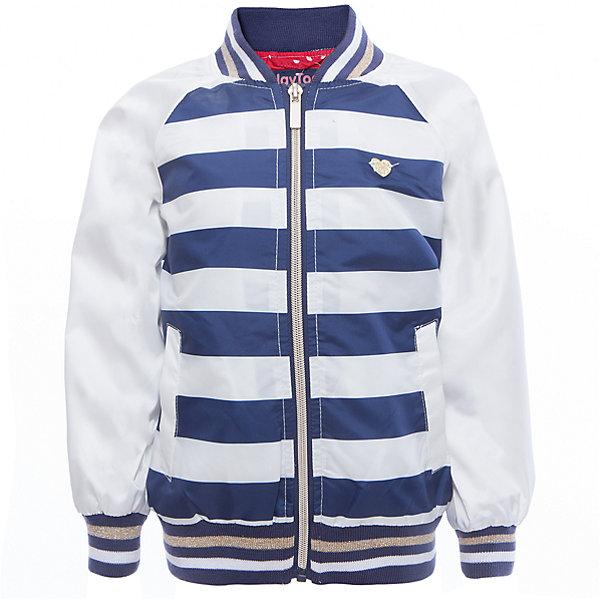 Куртка для девочки PlayTodayВерхняя одежда<br>Характеристики товара:<br><br>• цвет: разноцветный<br>• состав: 100% полиэстер, подкладка: 65% полиэстер, 35% хлопок<br>• аппликация<br>• с водоотталкивающей пропиткой<br>• мягкие манжеты<br>• карманы<br>• температурный режим: от +10° до +20° С<br>• комфортная посадка<br>• коллекция: весна-лето 2017<br>• страна бренда: Германия<br>• страна производства: Китай<br><br>Популярный бренд PlayToday выпустил новую коллекцию! Вещи из неё продолжают радовать покупателей удобством, стильным дизайном и продуманным кроем. Дети носят их с удовольствием. <br>Такая стильная модель обеспечит ребенку комфорт благодаря качественному материалу и продуманному крою. В составе ткани подкладки - натуральный хлопок, который позволяет коже дышать и не вызывает аллергии.<br>PlayToday - это линейка товаров, созданная специально для детей. Дизайнеры учитывают новые веяния моды и потребности детей. Порадуйте ребенка обновкой от проверенного производителя!<br><br>Куртку для девочки от известного бренда PlayToday можно купить в нашем интернет-магазине.<br><br>Ширина мм: 356<br>Глубина мм: 10<br>Высота мм: 245<br>Вес г: 519<br>Цвет: белый<br>Возраст от месяцев: 72<br>Возраст до месяцев: 84<br>Пол: Женский<br>Возраст: Детский<br>Размер: 122,98,110,116,128,104<br>SKU: 5603951