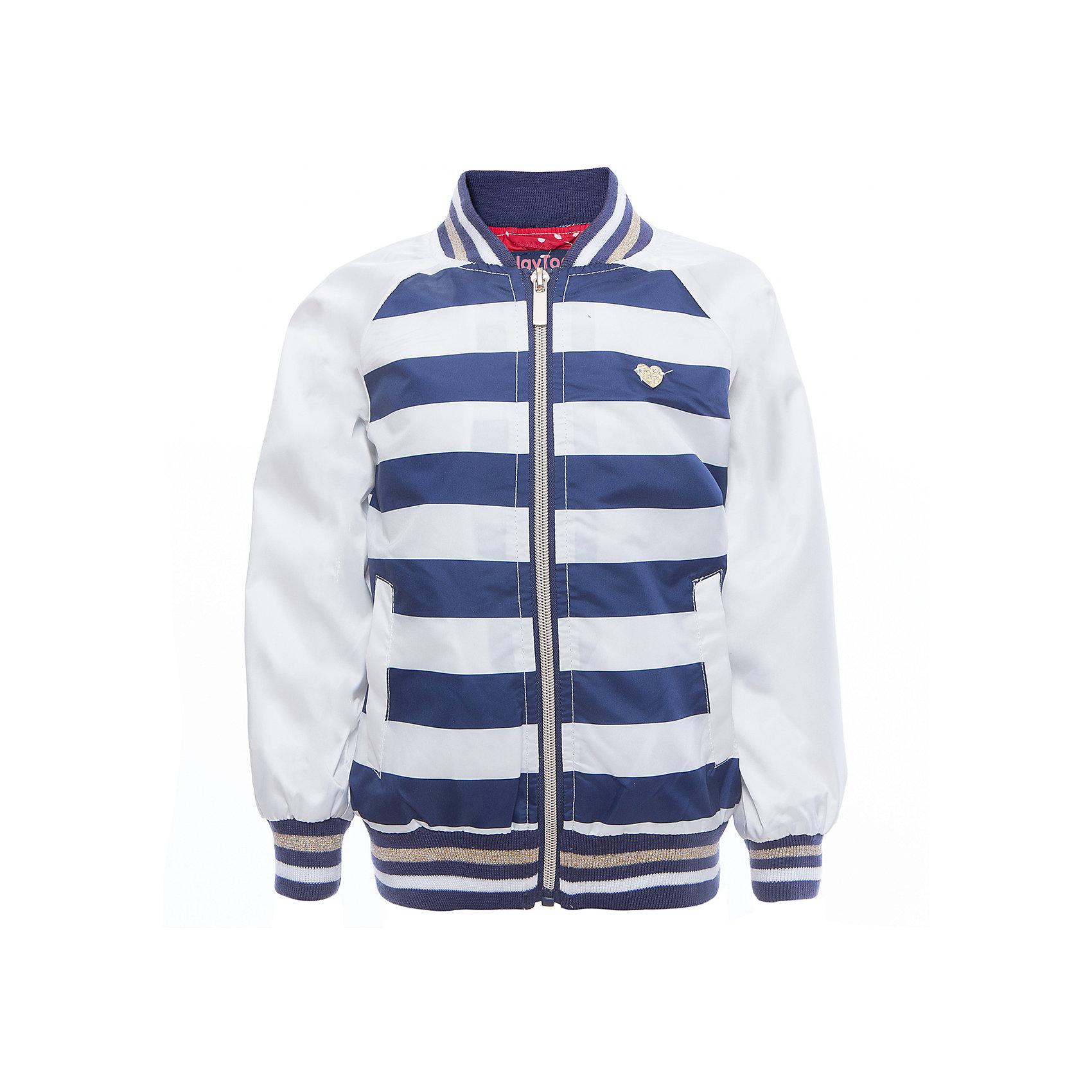 Куртка для девочки PlayTodayВерхняя одежда<br>Характеристики товара:<br><br>• цвет: разноцветный<br>• состав: 100% полиэстер, подкладка: 65% полиэстер, 35% хлопок<br>• аппликация<br>• с водоотталкивающей пропиткой<br>• мягкие манжеты<br>• карманы<br>• температурный режим: от +10° до +20° С<br>• комфортная посадка<br>• коллекция: весна-лето 2017<br>• страна бренда: Германия<br>• страна производства: Китай<br><br>Популярный бренд PlayToday выпустил новую коллекцию! Вещи из неё продолжают радовать покупателей удобством, стильным дизайном и продуманным кроем. Дети носят их с удовольствием. <br>Такая стильная модель обеспечит ребенку комфорт благодаря качественному материалу и продуманному крою. В составе ткани подкладки - натуральный хлопок, который позволяет коже дышать и не вызывает аллергии.<br>PlayToday - это линейка товаров, созданная специально для детей. Дизайнеры учитывают новые веяния моды и потребности детей. Порадуйте ребенка обновкой от проверенного производителя!<br><br>Куртку для девочки от известного бренда PlayToday можно купить в нашем интернет-магазине.<br><br>Ширина мм: 356<br>Глубина мм: 10<br>Высота мм: 245<br>Вес г: 519<br>Цвет: белый<br>Возраст от месяцев: 36<br>Возраст до месяцев: 48<br>Пол: Женский<br>Возраст: Детский<br>Размер: 104,122,98,110,116,128<br>SKU: 5603951
