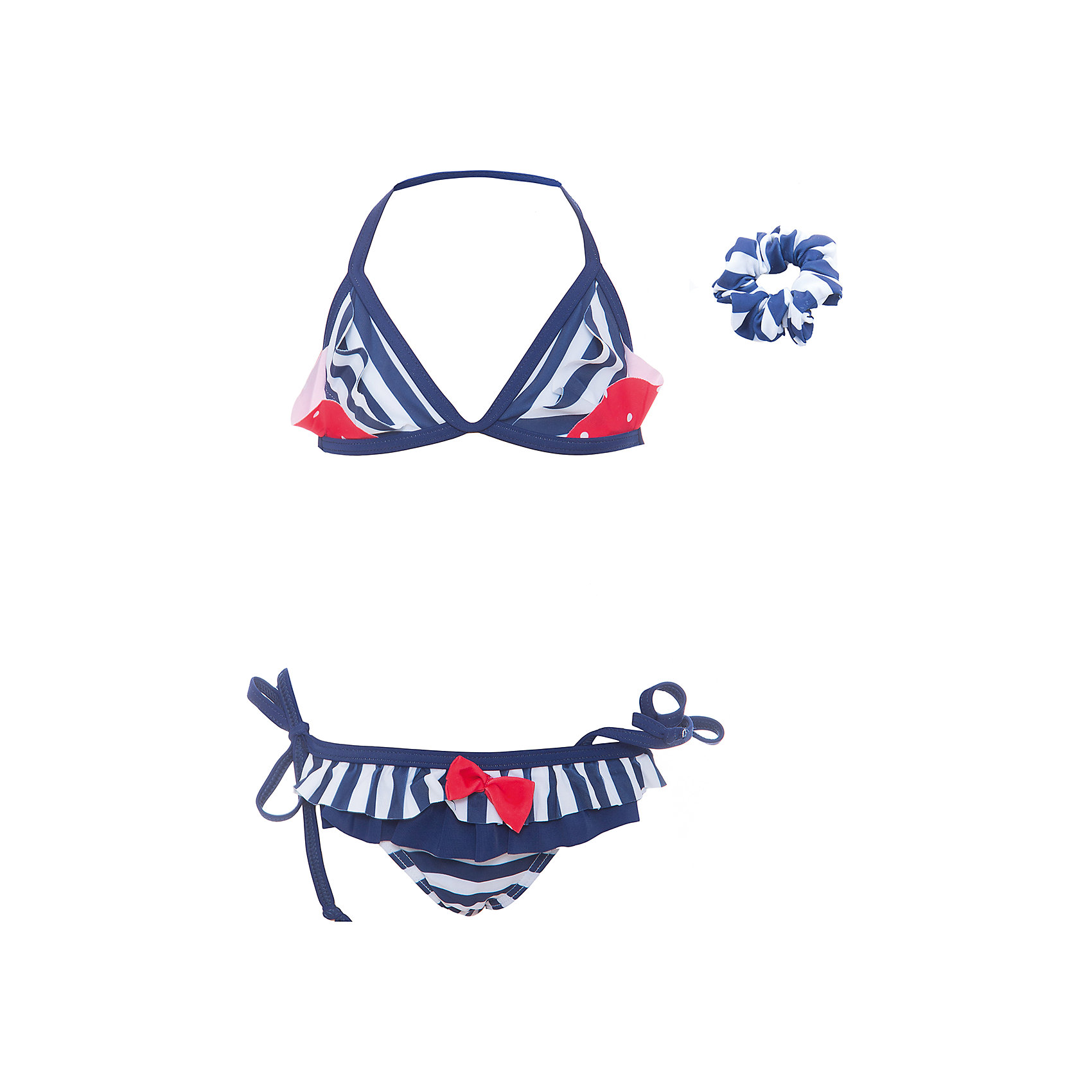 Купальник для девочки PlayTodayКупальники и плавки<br>Купальник - это неотъемлемая часть летнего гардероба. Быстросохнущий и эластичный материал этой модели приятен к телу. Ребенку в этом купальнике будет удобно и комфортно. Модель декорирована оригинальными контрастными вставками и оборками, дополнена резинкой для волос аналогичной расцветки.Преимущества: Быстросохнущий эластичный материалМатериал не раздражает нежную детскую кожу.<br>Состав:<br>85% полиэстер, 15% эластан<br><br>Ширина мм: 183<br>Глубина мм: 60<br>Высота мм: 135<br>Вес г: 119<br>Цвет: разноцветный<br>Возраст от месяцев: 84<br>Возраст до месяцев: 96<br>Пол: Женский<br>Возраст: Детский<br>Размер: 122/128,110/116,98/104<br>SKU: 5604023