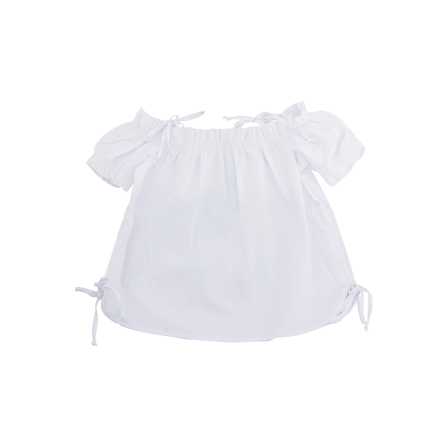 Топ для девочки ScoolФутболки, поло и топы<br>Топ из тонкой смесовой ткани будет хорошим дополнением летнего детского гардероба. Модель на бретелях и приспущенных рукавах. Горловина декорирована присборенной складкой и шнурками - кулисками на боковинах.<br>Состав:<br>68% хлопок, 28% полиэстер, 4% эластан<br><br>Ширина мм: 199<br>Глубина мм: 10<br>Высота мм: 161<br>Вес г: 151<br>Цвет: белый<br>Возраст от месяцев: 156<br>Возраст до месяцев: 168<br>Пол: Женский<br>Возраст: Детский<br>Размер: 164,134,140,146,152,158<br>SKU: 5604132