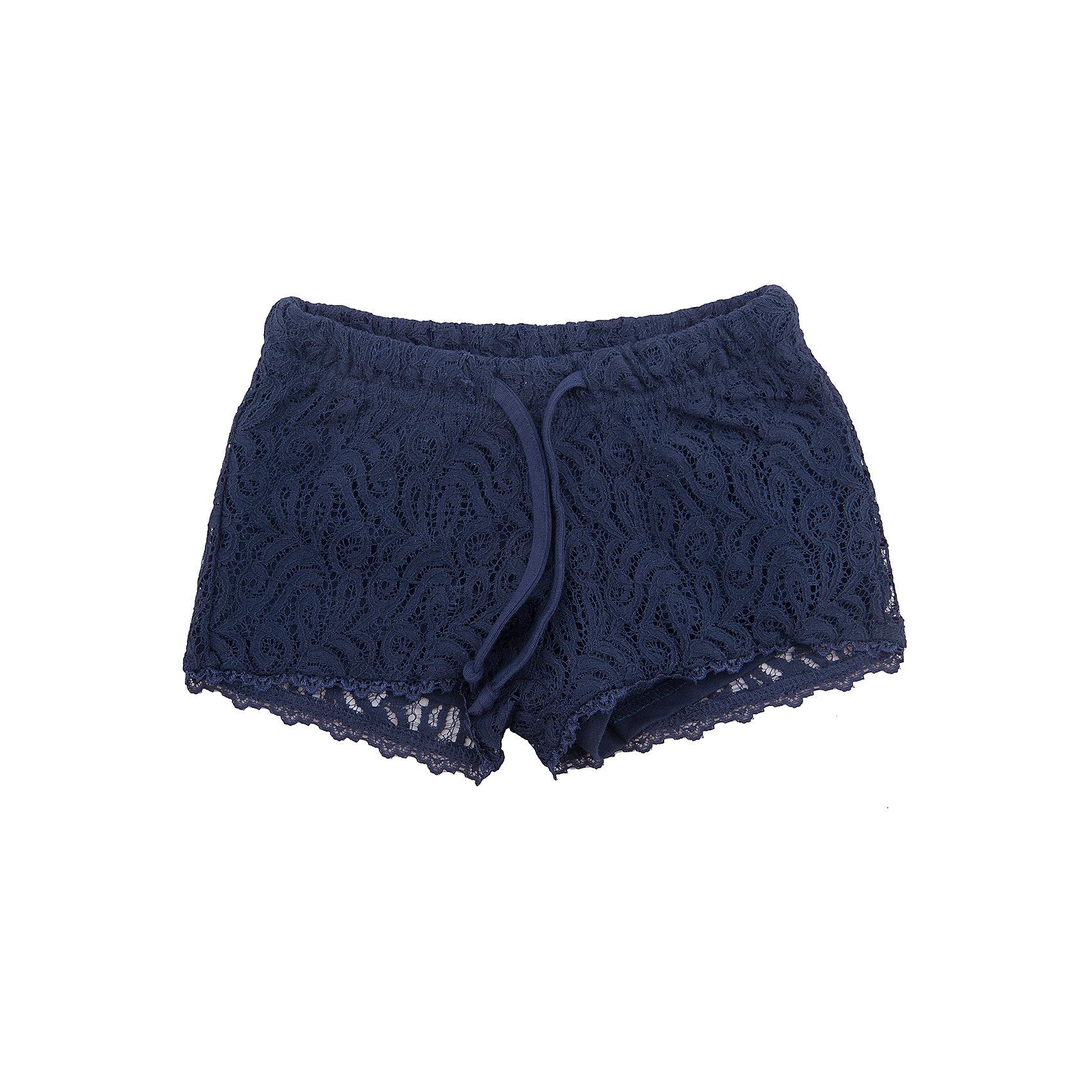 Шорты для девочки ScoolШорты, бриджи, капри<br>Кружевные шорты созданы по последним трендам современной детской моды. Подкладка из натуральной ткани. Модель на поясе снабжена регулируемым шнуром - кулиской. Натуральный материал подкладки приятен к телу и не вызывает раздражений, хорошо вентилируется.<br>Состав:<br>Верх: 80% хлопок, 20% полиамид; подкладка: 95% хлопок, 5% эластан<br><br>Ширина мм: 191<br>Глубина мм: 10<br>Высота мм: 175<br>Вес г: 273<br>Цвет: синий<br>Возраст от месяцев: 96<br>Возраст до месяцев: 108<br>Пол: Женский<br>Возраст: Детский<br>Размер: 134,164,140,146,152,158<br>SKU: 5604205