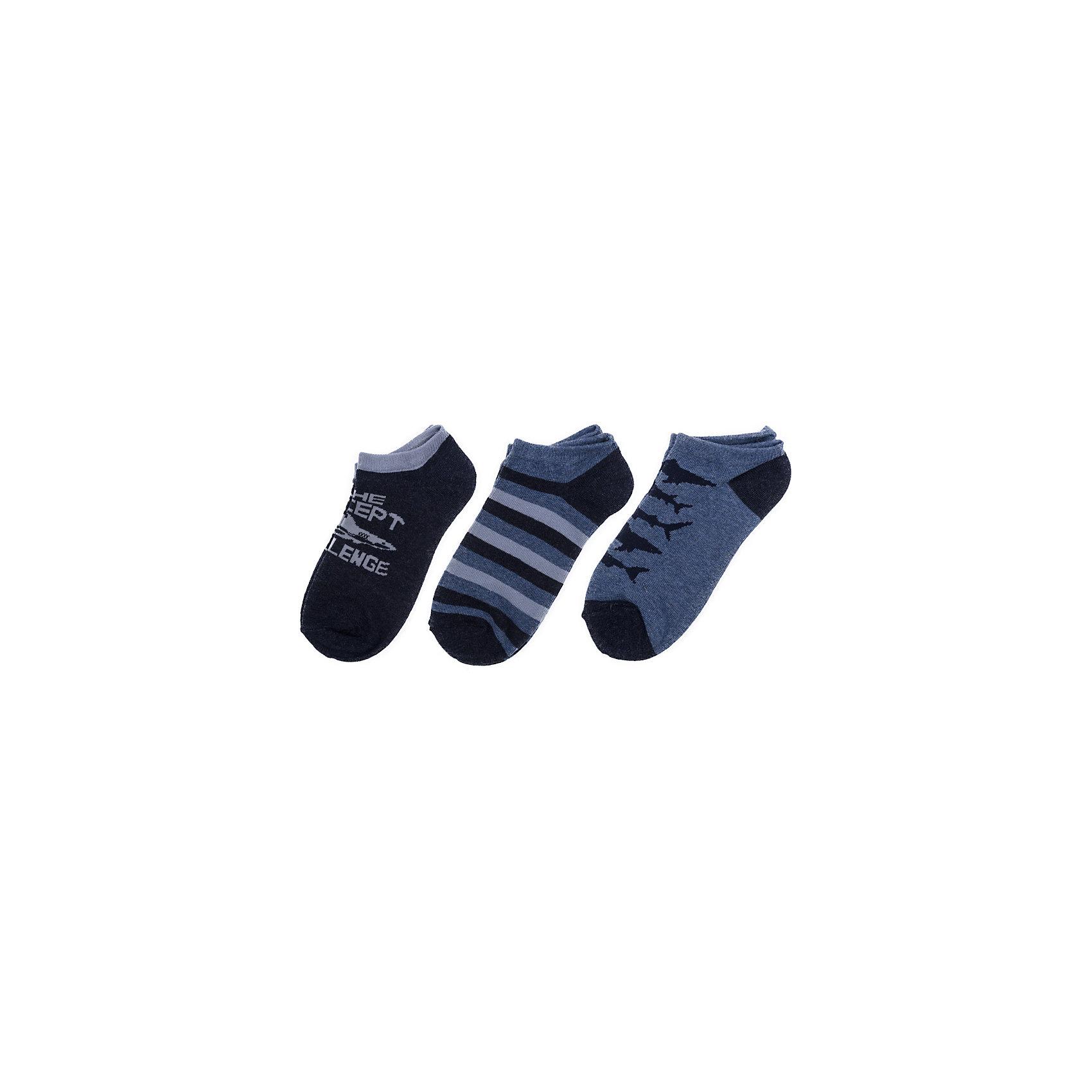 Носки для мальчика ScoolНоски<br>Носки очень мягкие, из качественных материалов, приятны к телу и не сковывают движений. Хорошо облегают ногу.Преимущества: Мягкие, выполненные из натуральных материалов, приятны к телу, не сковывают движенийХорошо пропускают воздух, позволяя тем самым коже дышатьДаже частые стирки, при условии соблюдений рекомендаций по уходу, не изменят ни форму, ни цвет изделия.<br>Состав:<br>75% хлопок, 22% нейлон, 3% эластан<br><br>Ширина мм: 87<br>Глубина мм: 10<br>Высота мм: 105<br>Вес г: 115<br>Цвет: синий<br>Возраст от месяцев: 9<br>Возраст до месяцев: 12<br>Пол: Мужской<br>Возраст: Детский<br>Размер: 20,22,24<br>SKU: 5604368