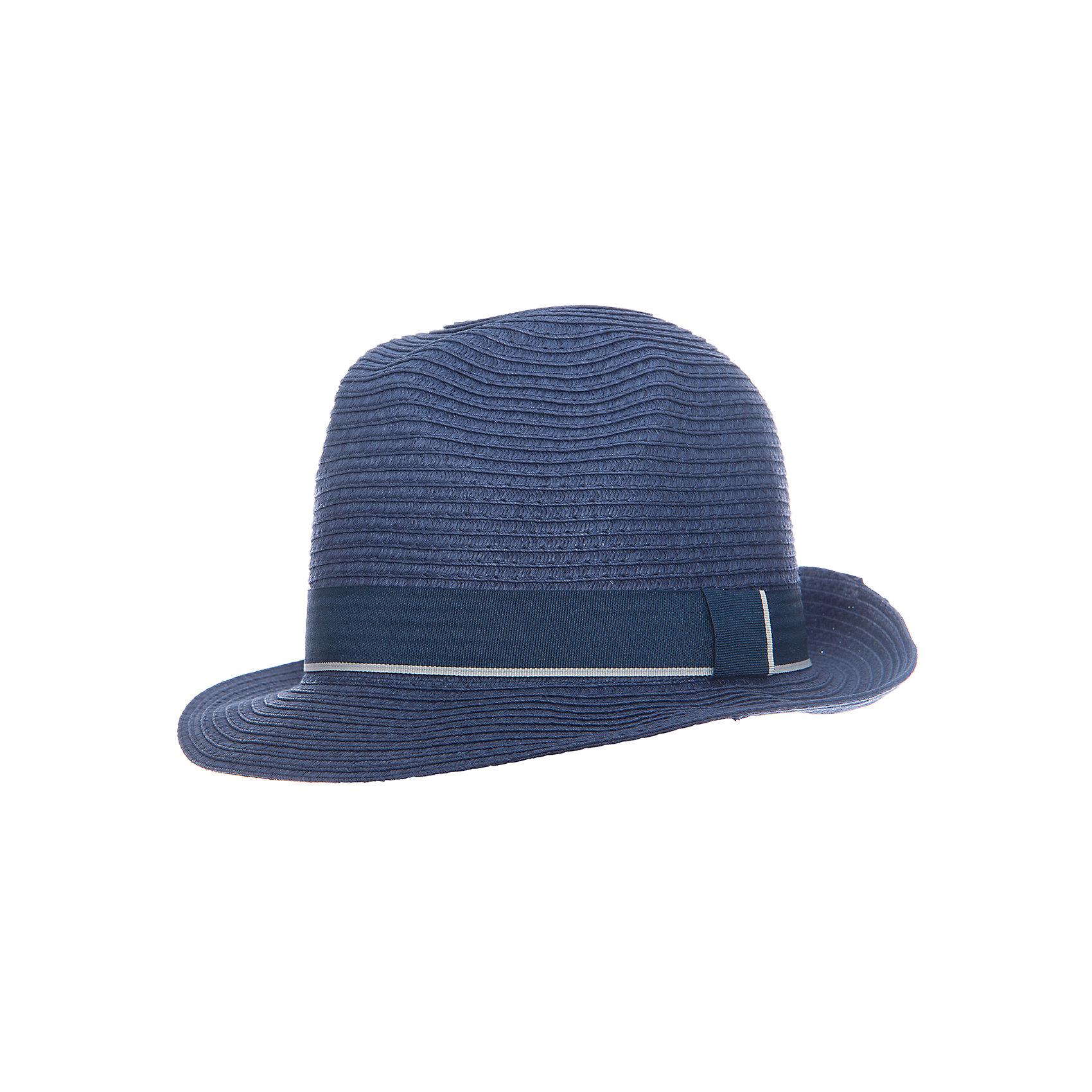 Панама для мальчика ScoolГоловные уборы<br>Эффектная шляпа из бумажной соломки прекрасно подойдет для прогулок в жаркую погоду. Декорирована широкой лентой.<br>Состав:<br>100% бумажная соломка<br><br>Ширина мм: 89<br>Глубина мм: 117<br>Высота мм: 44<br>Вес г: 155<br>Цвет: синий<br>Возраст от месяцев: 96<br>Возраст до месяцев: 120<br>Пол: Мужской<br>Возраст: Детский<br>Размер: 56,54<br>SKU: 5604391