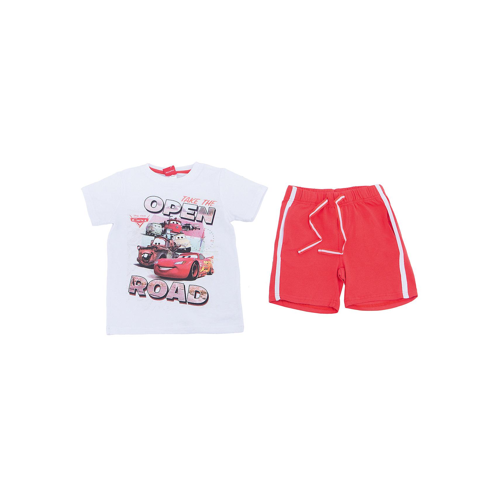 Комплект: футболка и шорты для мальчика PlayTodayКомплекты<br>Комплект из натурального хлопка подойдет для отдыха и прогулок. Лекало модели футболки является точной копией настоящей мужской футболки - поло. Можно использовать в качестве базовой вещи повседневного гардероба Вашего ребенка. Аккуратные швы не вызывают раздражений. Шорты на мягкой резинке, дополнены регулируемым шнуром - кулиской. Преимущества: Свободный классический крой не сковывает движения ребенкаМягкая и приятная на ощупь ткань.<br>Состав:<br>95% хлопок, 5% эластан<br><br>Ширина мм: 191<br>Глубина мм: 10<br>Высота мм: 175<br>Вес г: 273<br>Цвет: разноцветный<br>Возраст от месяцев: 72<br>Возраст до месяцев: 84<br>Пол: Мужской<br>Возраст: Детский<br>Размер: 122,104,110,116,128,98<br>SKU: 5604512