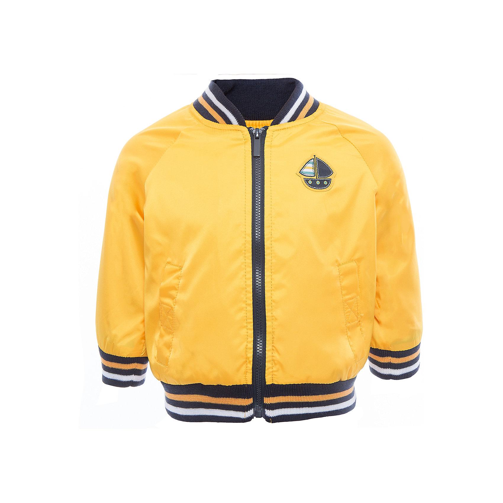 Куртка для мальчика PlayTodayВерхняя одежда<br>Характеристики товара:<br><br>• цвет: желтый<br>• состав: 100% полиэстер, подкладка: 65% полиэстер, 35% хлопок<br>• декорирована аппликацией<br>• с водоотталкивающей пропиткой<br>• мягкие манжеты<br>• карманы<br>• температурный режим: от +10° до +20° С<br>• комфортная посадка<br>• коллекция: весна-лето 2017<br>• страна бренда: Германия<br>• страна производства: Китай<br><br>Популярный бренд PlayToday выпустил новую коллекцию! Вещи из неё продолжают радовать покупателей удобством, стильным дизайном и продуманным кроем. Дети носят их с удовольствием. <br>Такая стильная модель обеспечит ребенку комфорт благодаря качественному материалу и продуманному крою. В составе ткани подкладки - натуральный хлопок, который позволяет коже дышать и не вызывает аллергии.<br>PlayToday - это линейка товаров, созданная специально для детей. Дизайнеры учитывают новые веяния моды и потребности детей. Порадуйте ребенка обновкой от проверенного производителя!<br><br>Куртку для мальчика от известного бренда PlayToday можно купить в нашем интернет-магазине.<br><br>Ширина мм: 356<br>Глубина мм: 10<br>Высота мм: 245<br>Вес г: 519<br>Цвет: белый<br>Возраст от месяцев: 12<br>Возраст до месяцев: 18<br>Пол: Мужской<br>Возраст: Детский<br>Размер: 86,74,92,80<br>SKU: 5604520