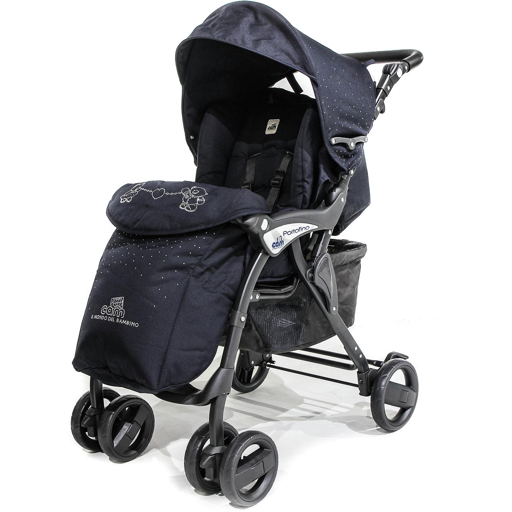 Прогулочная коляска CAM Portofino Ex с кристаллами, синийПрогулочные коляски<br>легкая прогулочная коляска для детей от рождения до 3-4 лет. Имеет все качества, которые можно пожелать. В этой коляске ребенку будет не только удобно гулять, но и спать (спинка раскладывается  в 4-х положениях до положения лежа). Коляска маневренная, практичная, легко и компактно складывается, есть удобная ручка для переноски. Прогулочная коляска Cam Portofino сделана из нетоксичных современных материалов, в соответствии с европейским стандартом качества детских товаров.<br>В комплекте:<br>накидка на ножки<br>дождевик<br>корзина для покупок<br>складывается книжкой <br>Общие размеры:<br>в разложенном виде (дхшхв) 80x49x100 см<br>в сложенном виде (дxшxв) 50x39x83 см<br>вес коляски 7,6 кг<br><br>Ширина мм: 743<br>Глубина мм: 432<br>Высота мм: 210<br>Вес г: 8500<br>Возраст от месяцев: 0<br>Возраст до месяцев: 36<br>Пол: Унисекс<br>Возраст: Детский<br>SKU: 5607562